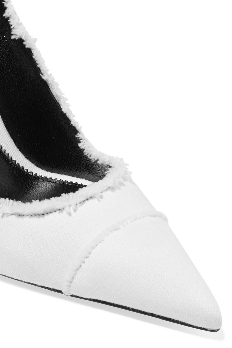 Frayed Twill Pumps - White Tom Ford