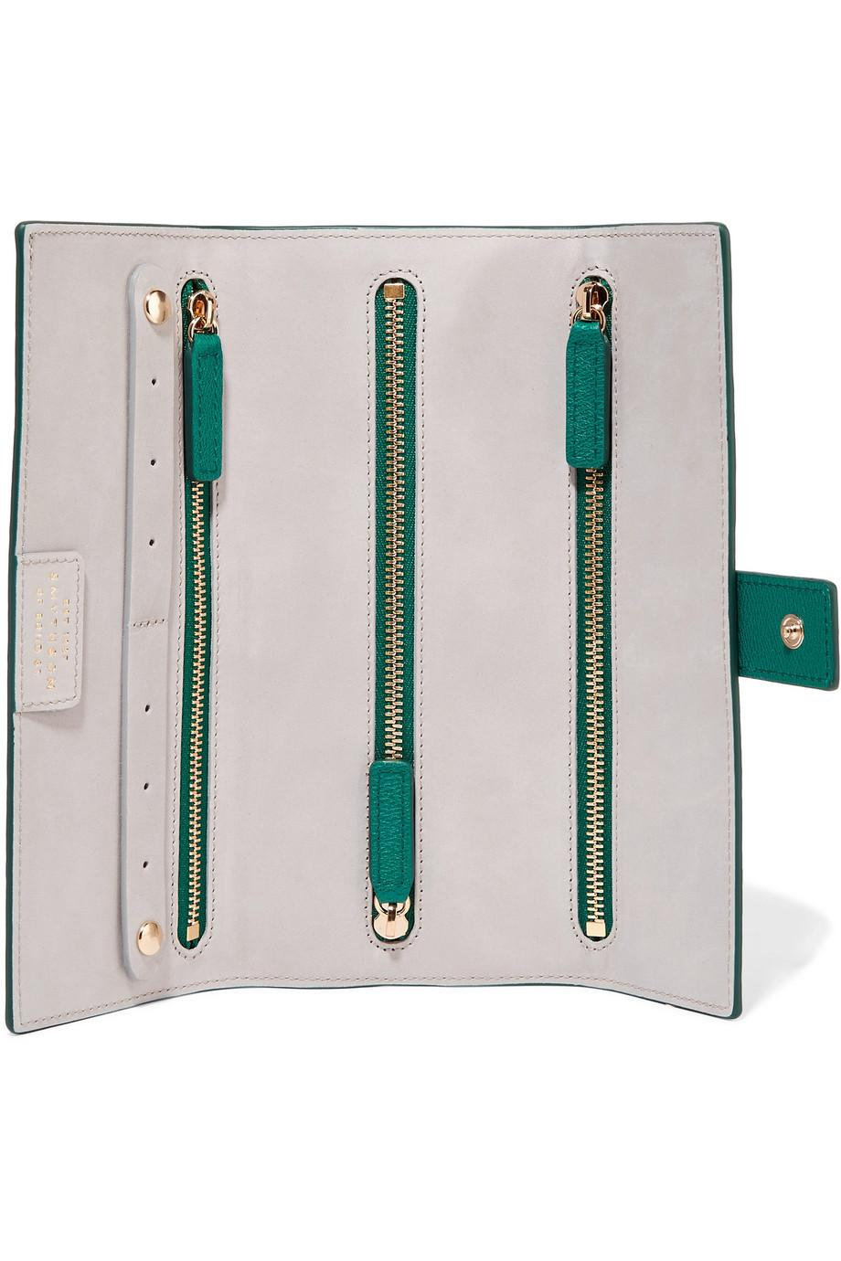 424131b62038 Lyst - Smythson Grosvenor Textured-leather Jewelry Case in Green