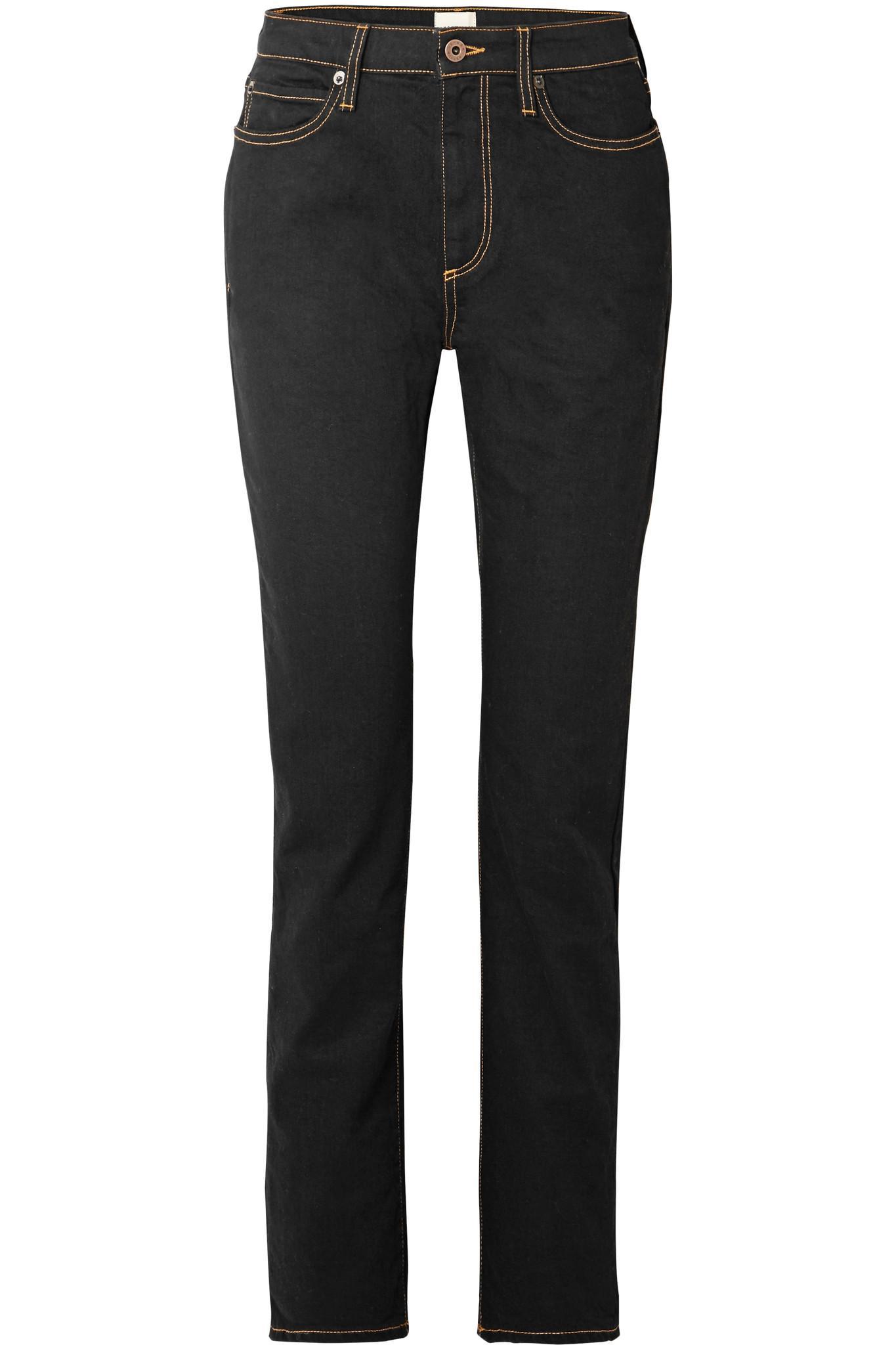 W009 Dever High-rise Slim-leg Jeans - Black Simon Miller vvvXIun3UA
