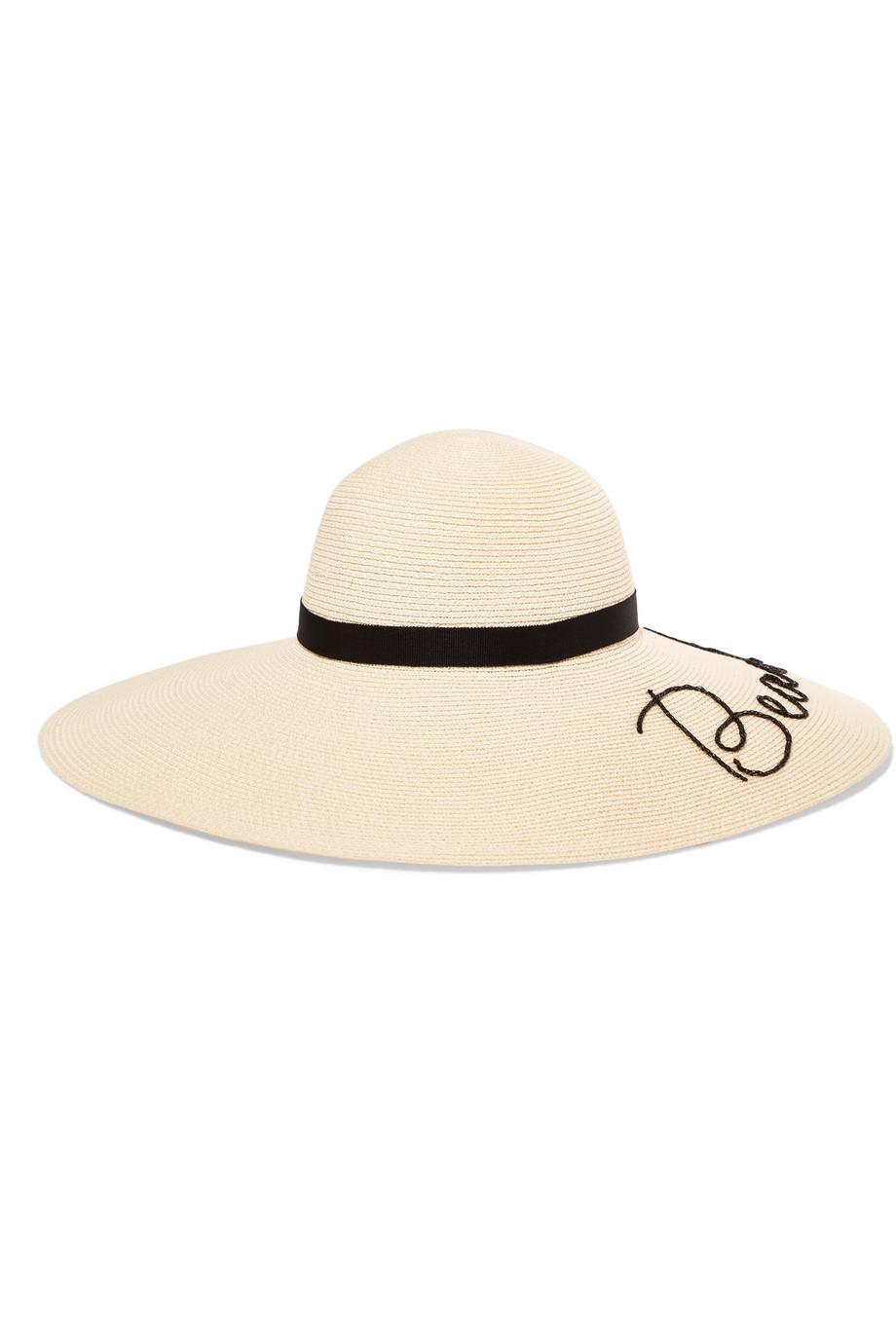 2a8ed3d7852b5 Lyst - Eugenia Kim Bunny Embroidered Woven Paper Sunhat in White