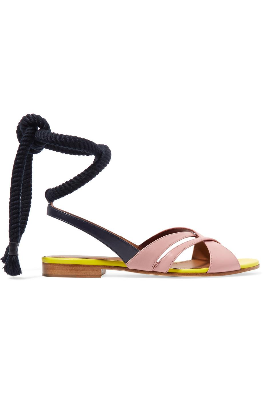 + Roksanda Marlene Color-block Leather Sandals - Midnight blue Malone Souliers Outlet Cheap Quality 6eq8sS