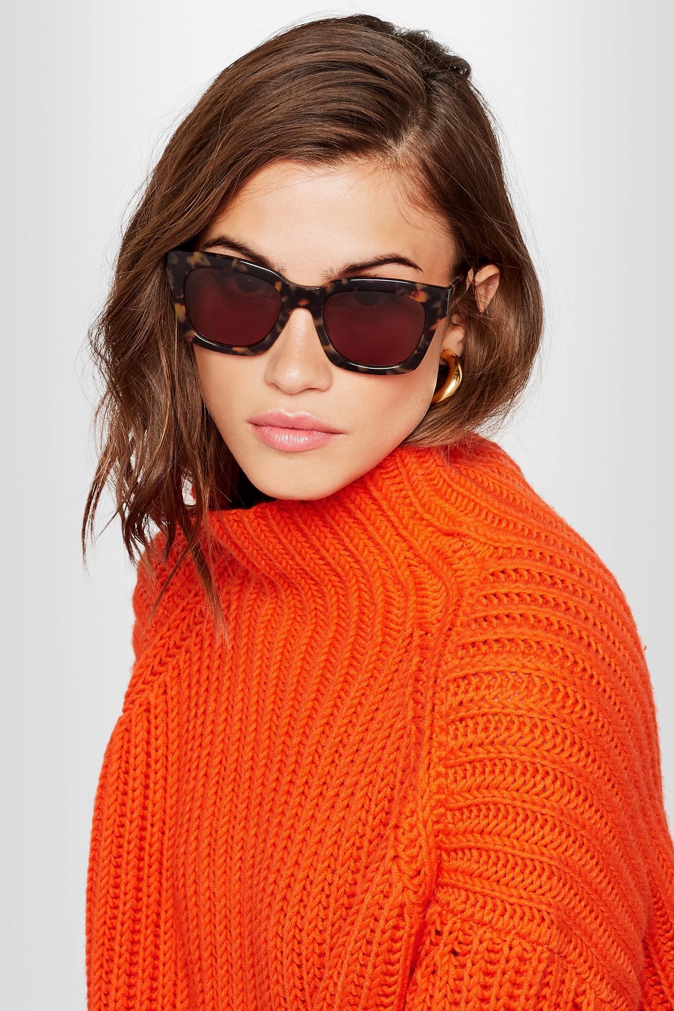 de6d05a0a6 Lyst - Ganni Alice Square-frame Acetate Sunglasses