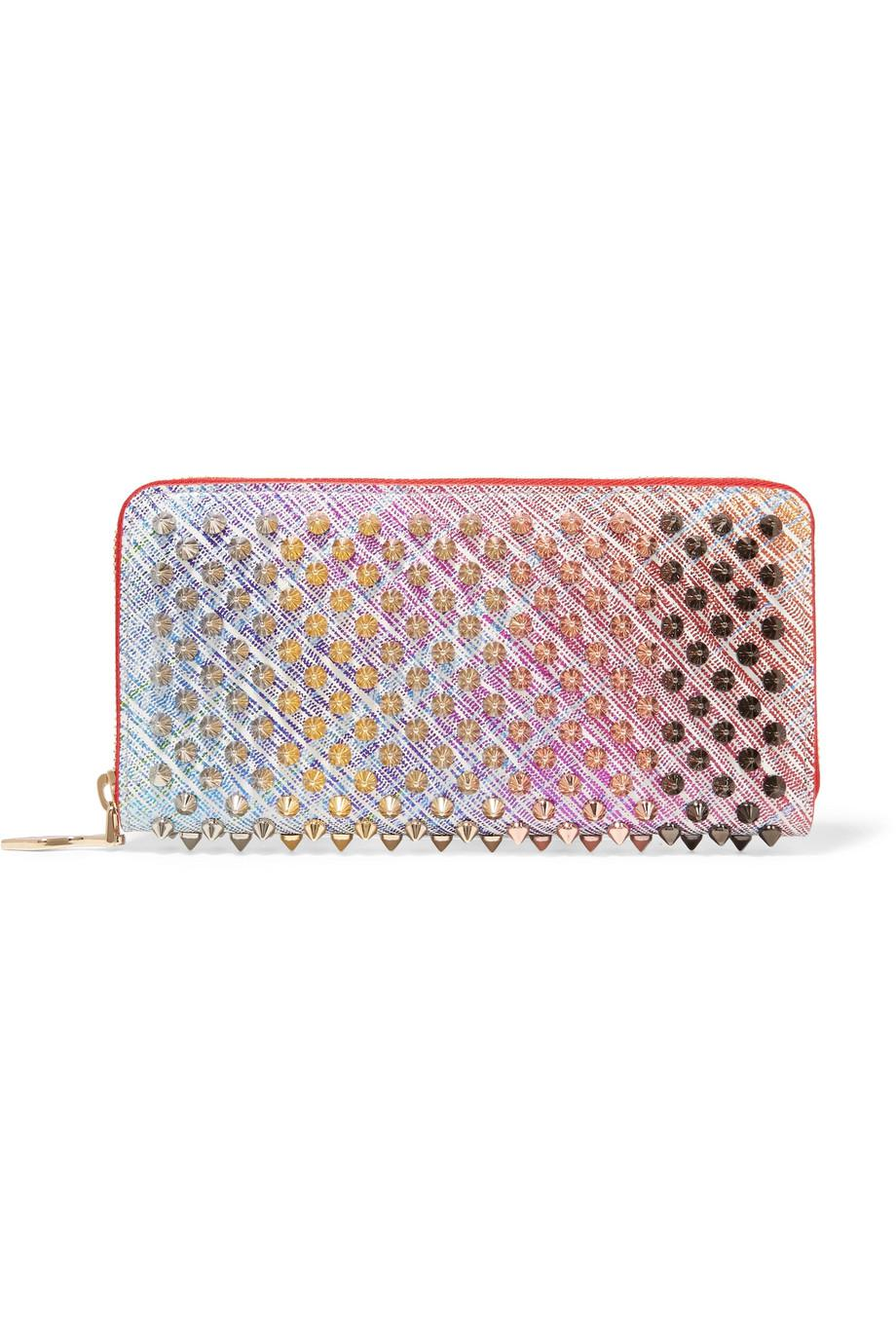 Panettone Spiked Metallic Suede Continental Wallet - Pink Christian Louboutin 0ZlpWSNYw8