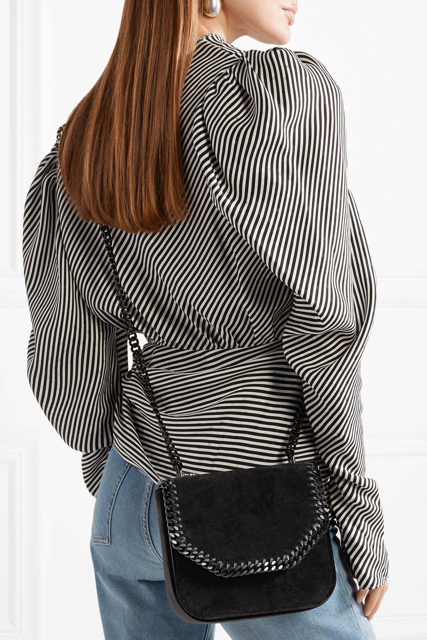 45a9b41b84cb Lyst - Stella McCartney The Falabella Box Medium Velvet Shoulder Bag ...