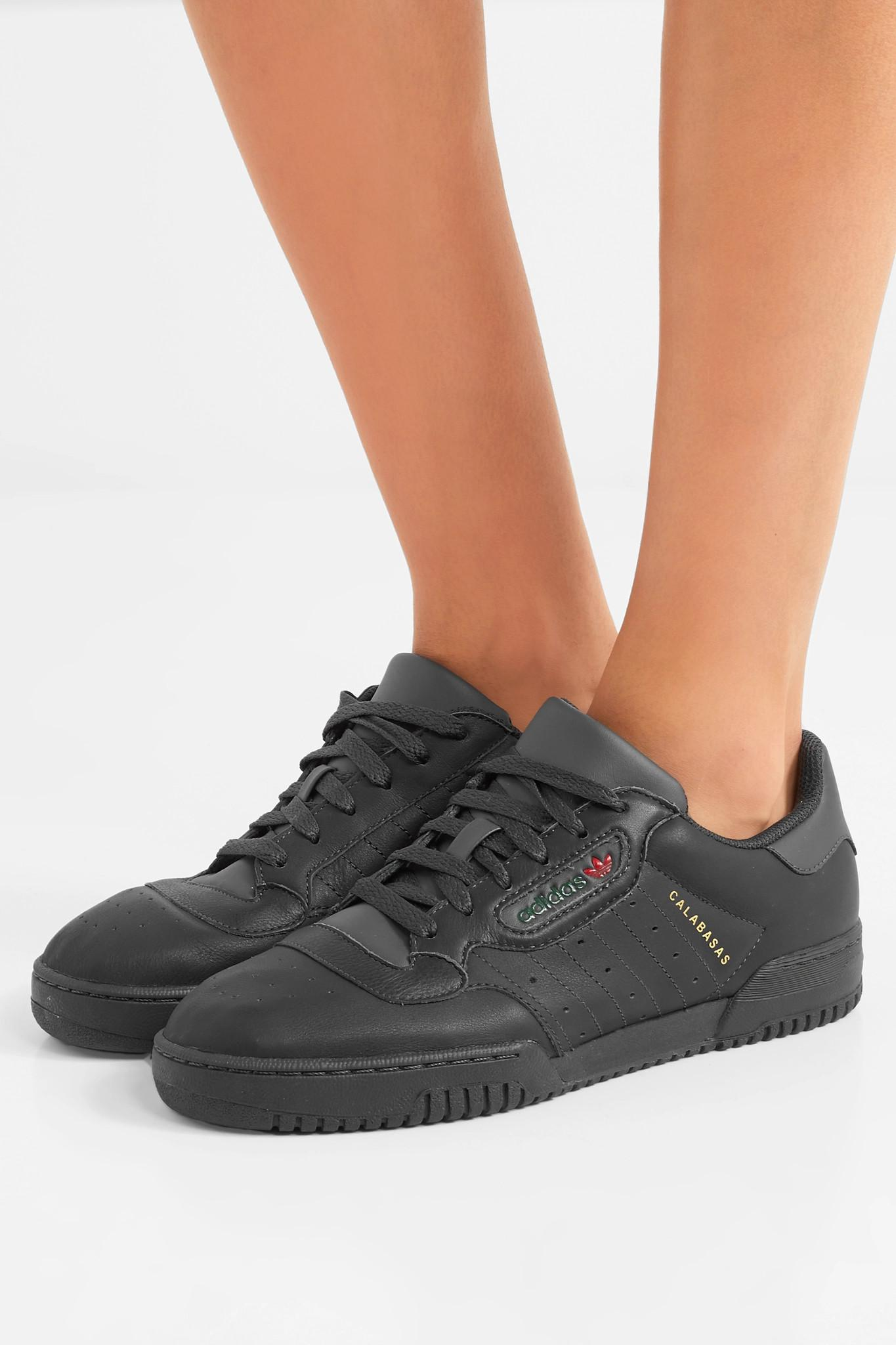 f9c8127a9ed37 Adidas Originals - Black + Yeezy Powerphase Calabasas Leather Sneakers -  Lyst. View fullscreen