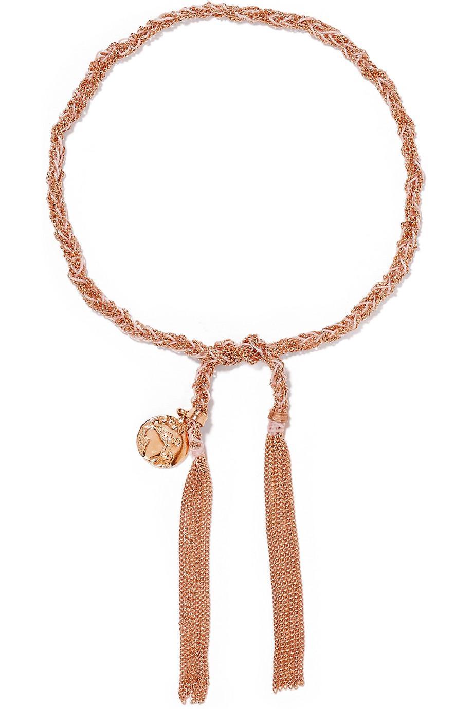Carolina Bucci Dream Lucky 18-karat Gold And Silk Bracelet zUc8F9iIZ