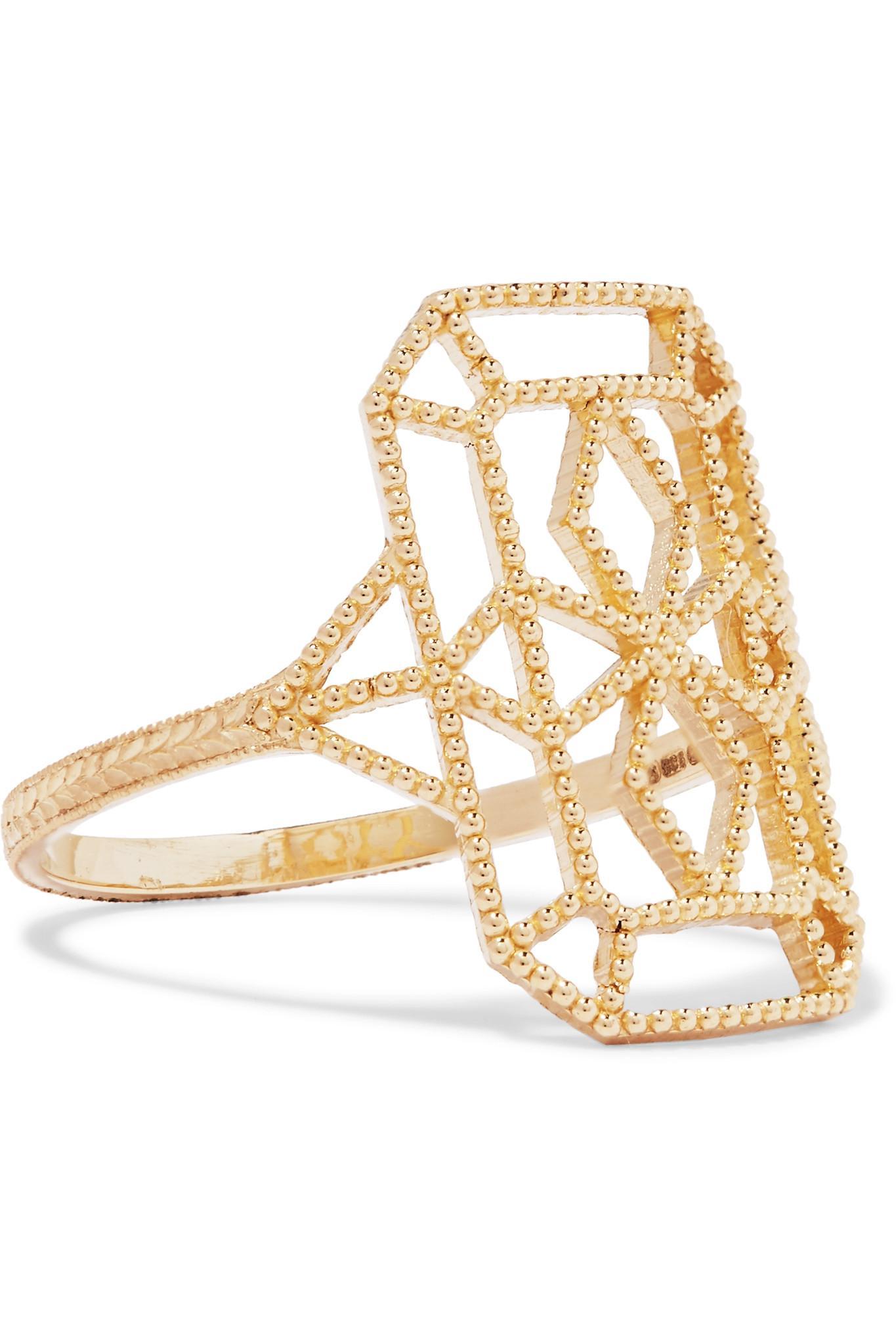 Grace Lee Designs Lace Deco Vi 14-karat Gold Ring X0iKBxYR0