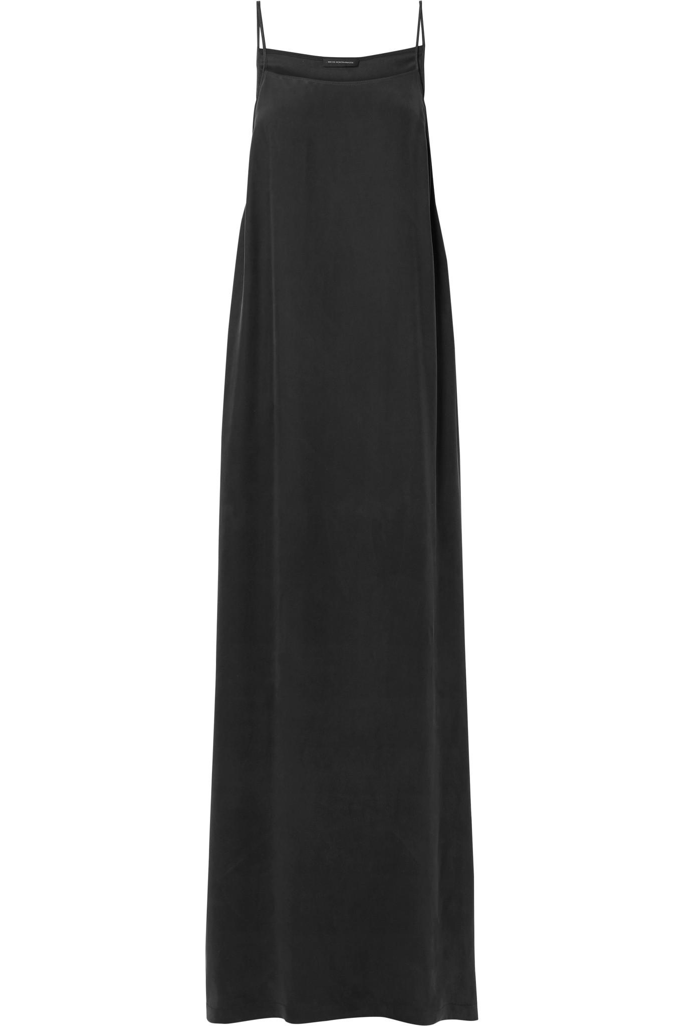Amour Silk-charmeuse Maxi Dress - Black Kiki De Montparnasse V0NC7HyYQ