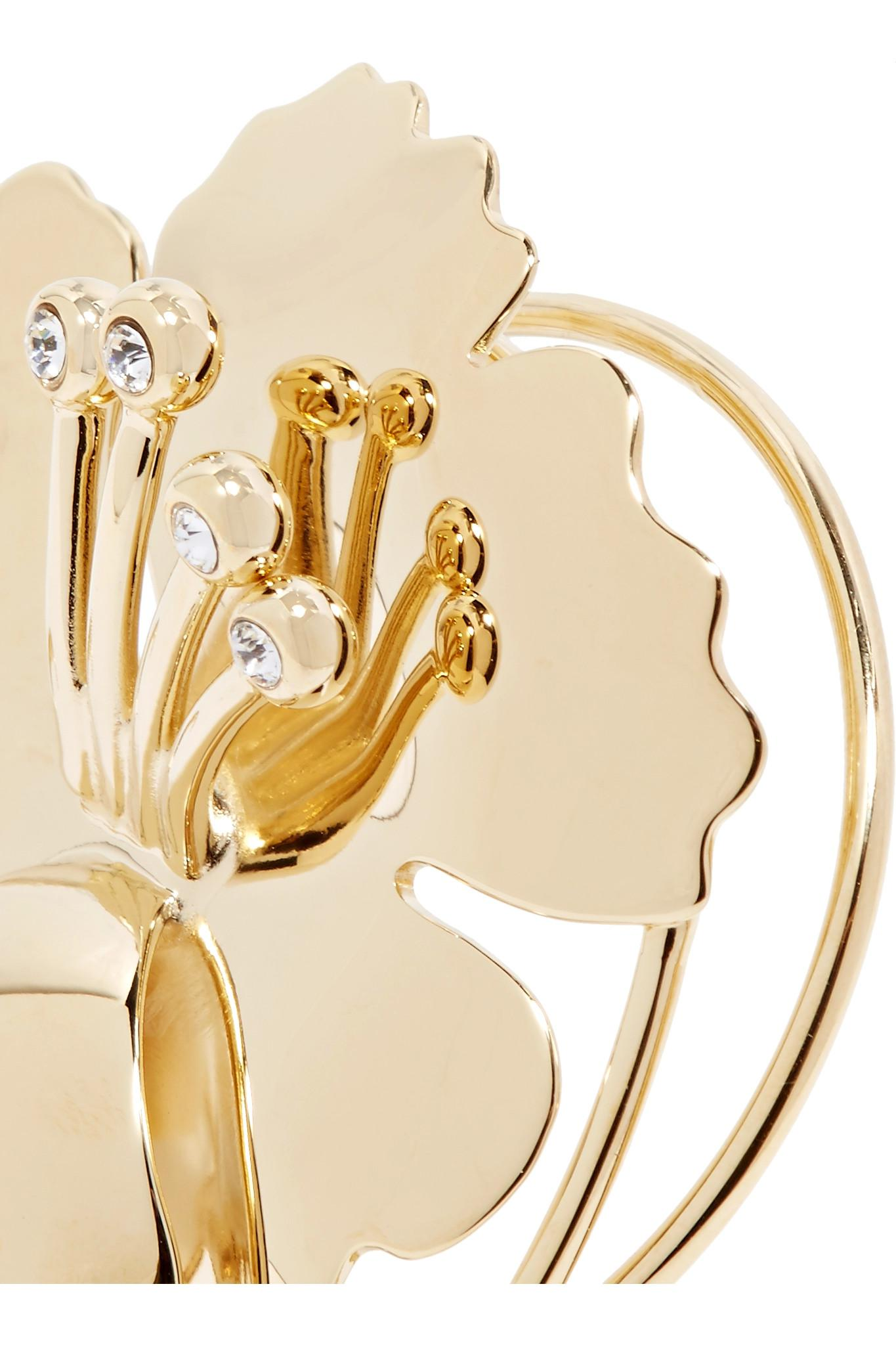J.W.Anderson Gold-plated Crystal Ear Cuff NaYMds20