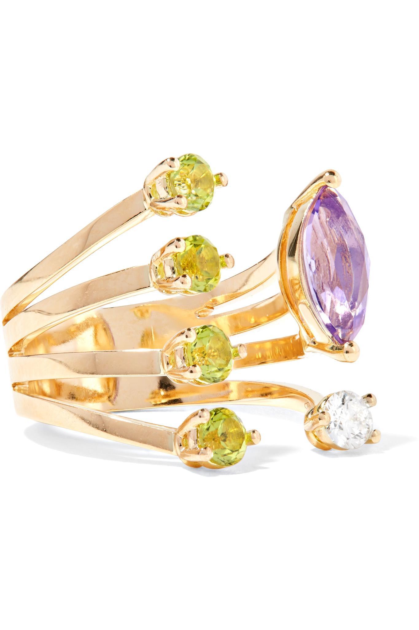 Delfina Delettrez 18-karat White Gold Multi-stone Ring vlrxqfnk