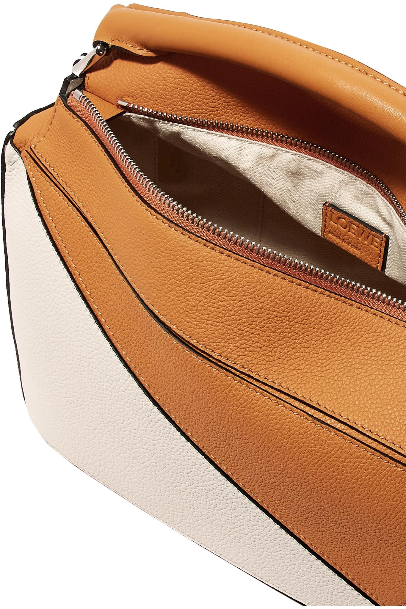 29c6fceeb9fb Lyst - Loewe Puzzle Two-tone Textured-leather Shoulder Bag in Brown