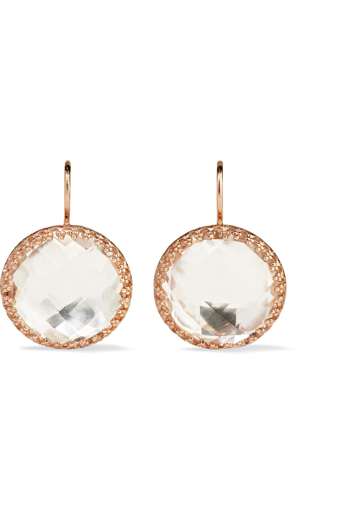 Larkspur & Hawk Olivia Button Rose Gold-dipped Topaz Earrings P1VRXgwMk2