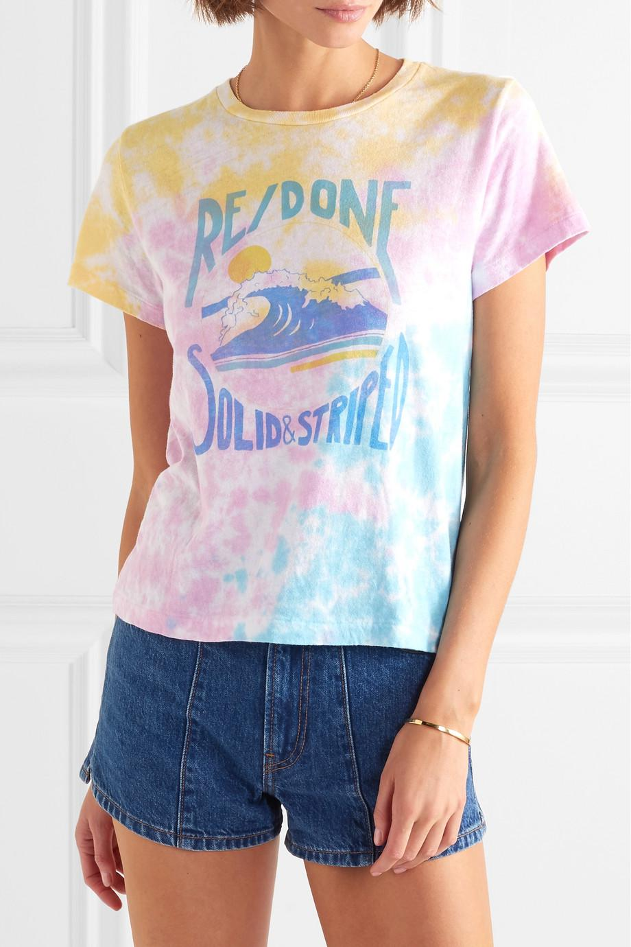 Free Shipping Top Quality Cheap Sneakernews + Re/done The Venice Printed Tie-dyed Cotton-jersey T-shirt - Pink Solid & Striped Visa Payment Cheap Online ZOrNu