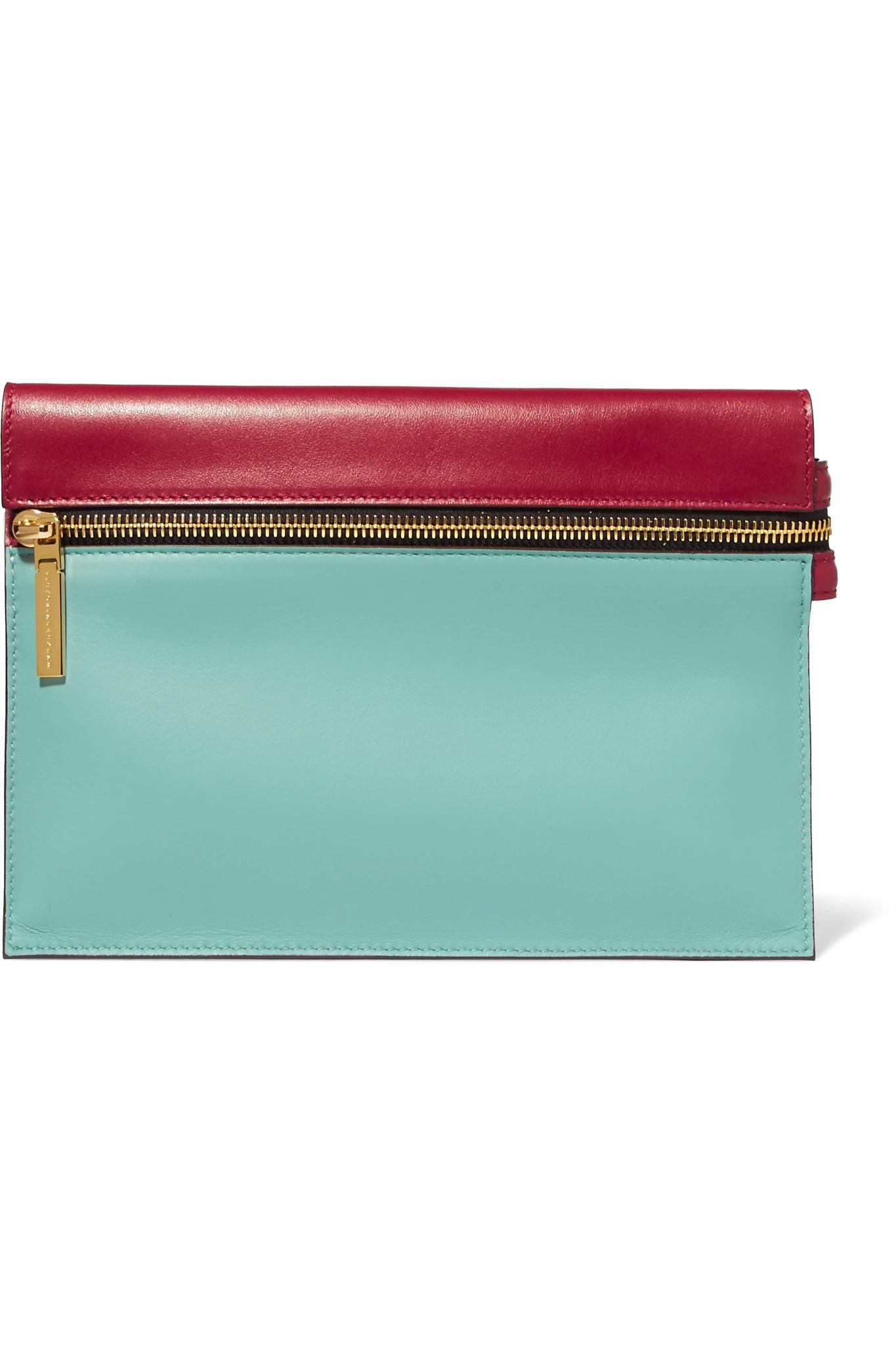 Two-tone Leather Cardholder - Sky blue Victoria Beckham qTOILLU