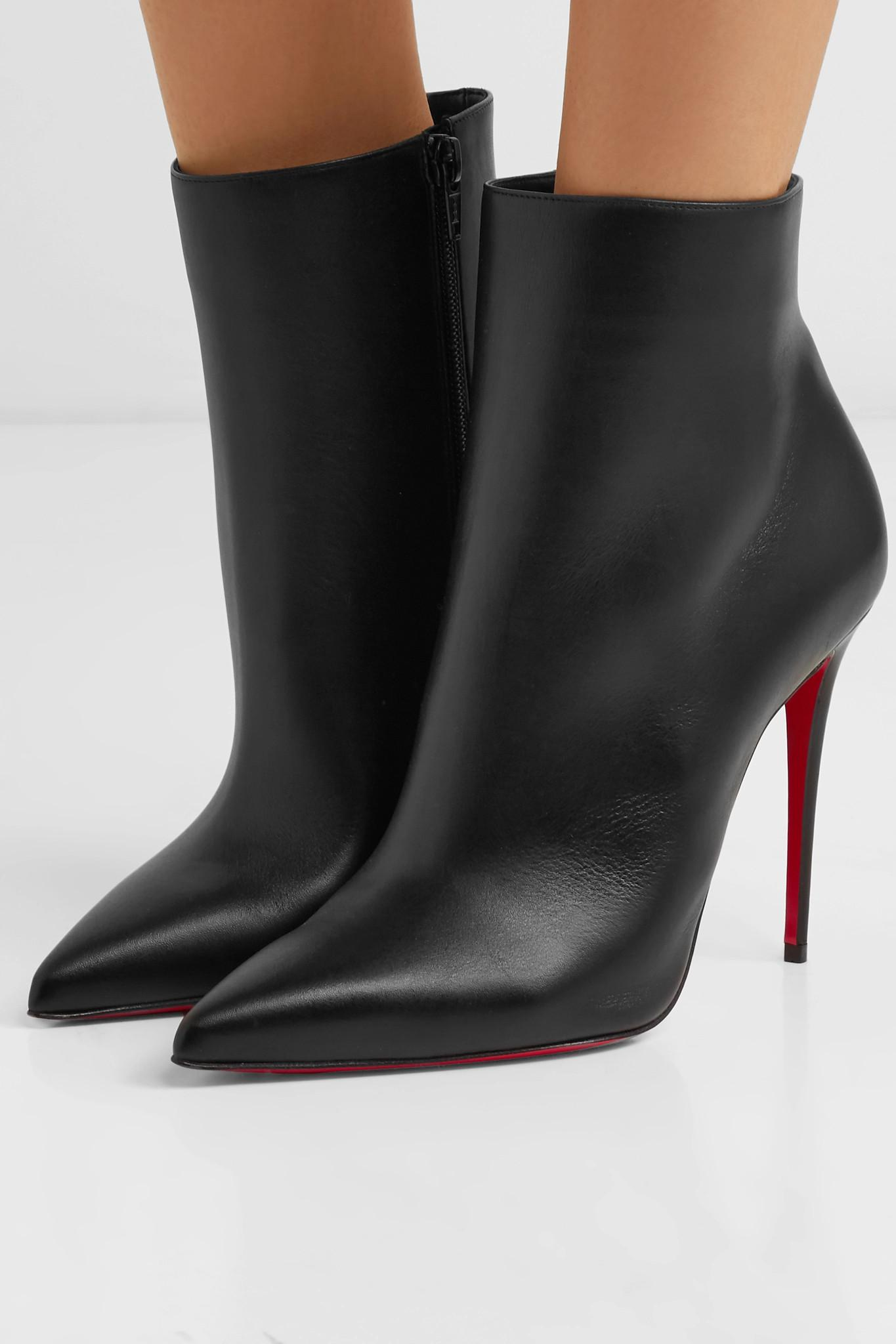fb48ba202f43 Christian Louboutin - Black So Kate 110 Leather Ankle Boots - Lyst. View  fullscreen