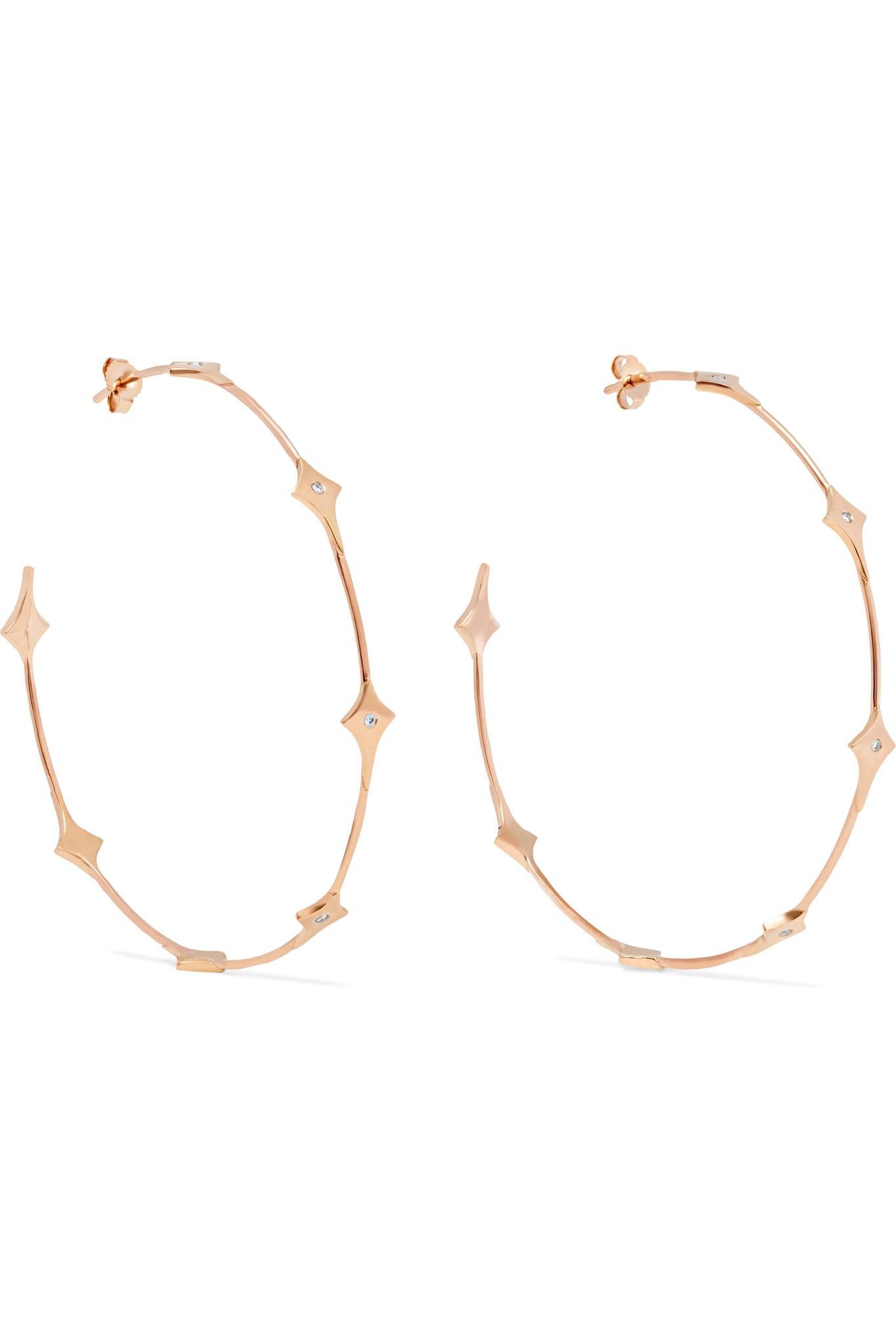 Diane Kordas 18-karat Rose Gold Diamond Earrings s269Mmi