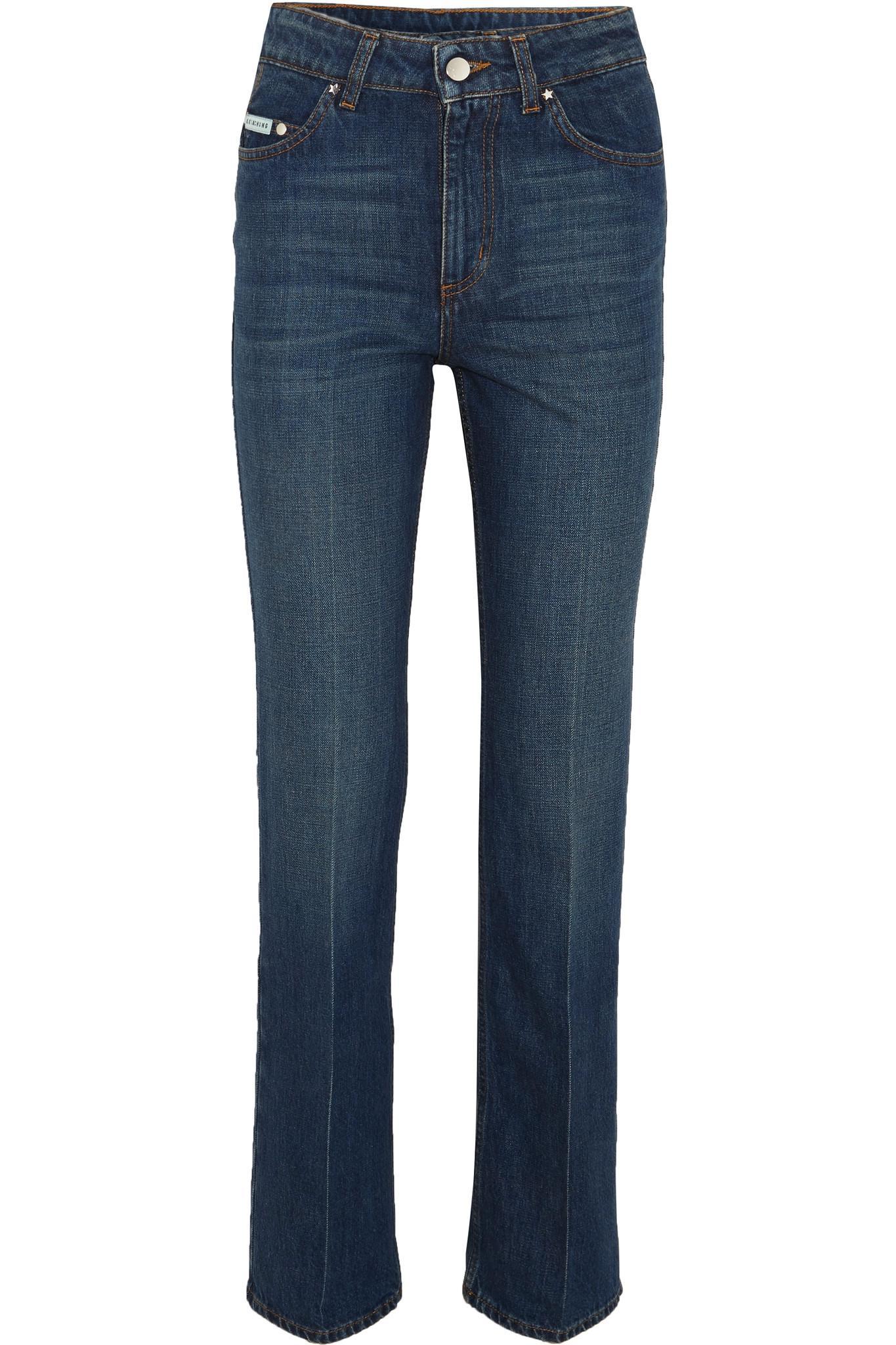 Alexa Chung Woman Frayed High-rise Straight-leg Jeans Mid Denim Size 24 AlexaChung ddTjXfMeL
