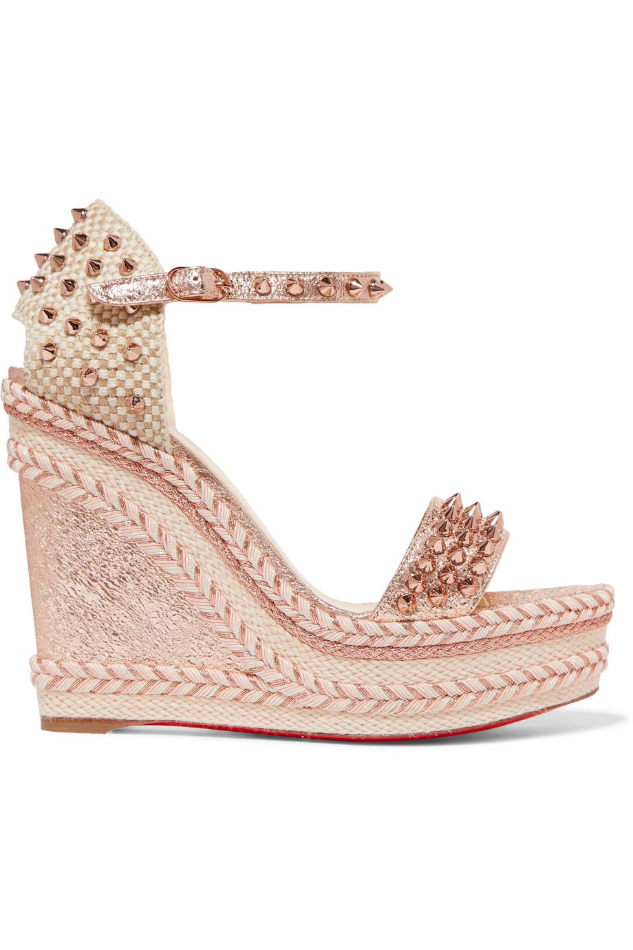 03b5d08ead9 Gallery. Previously sold at  NET-A-PORTER · Women s Christian Louboutin  Spike Women s Wooden Wedge Shoes ...