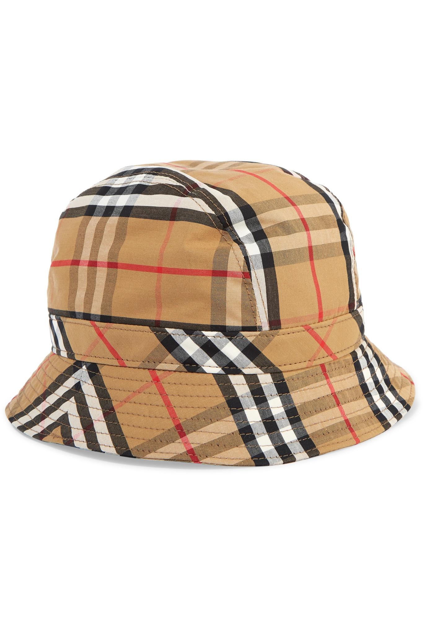 Burberry. Women s Checked Cotton-canvas Bucket Hat 039fc8782d