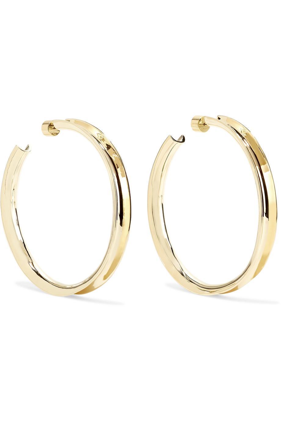 Jennifer Fisher Reverse Gold-plated Hoop Earrings rq0Enlx