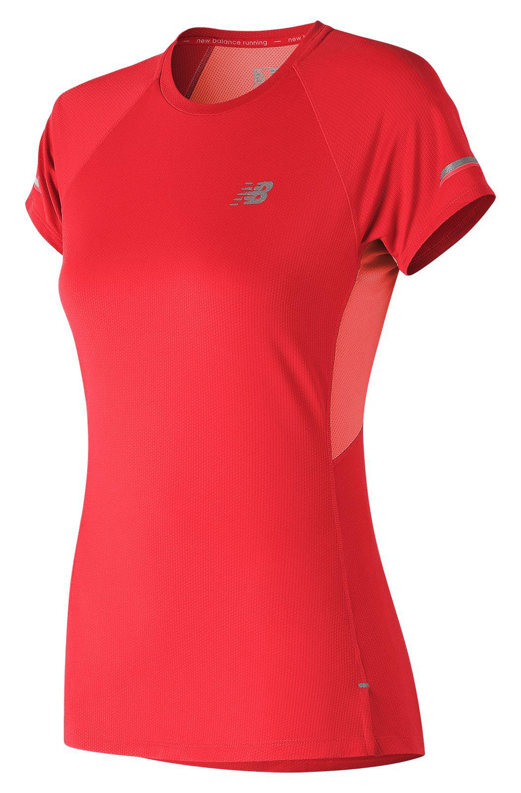 New Balance. Women's Red Nb Ice 2.0 Short Sleeve