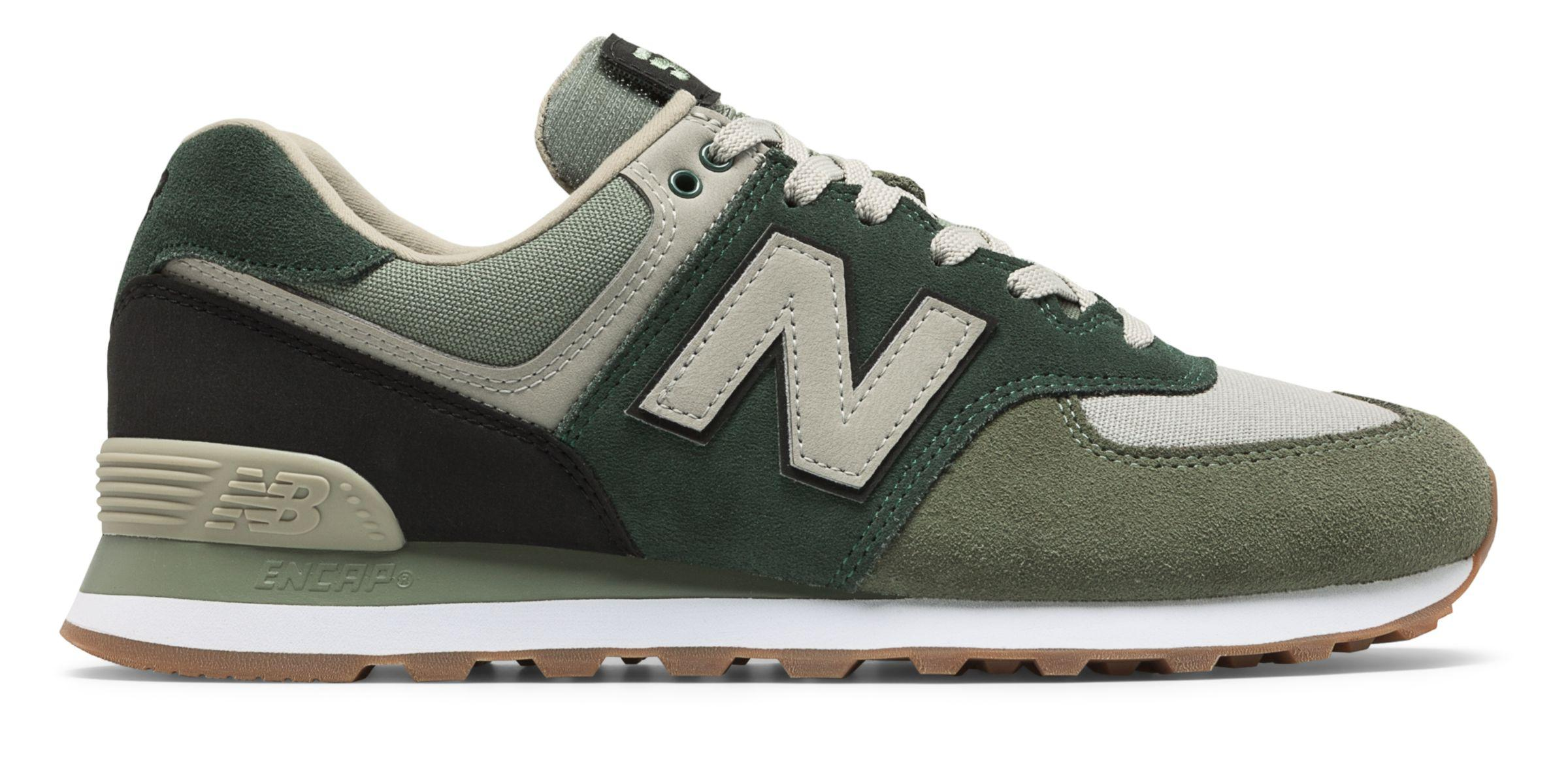 separation shoes 70fe7 a6bd9 New Balance 574 Military Patch in Green for Men - Lyst