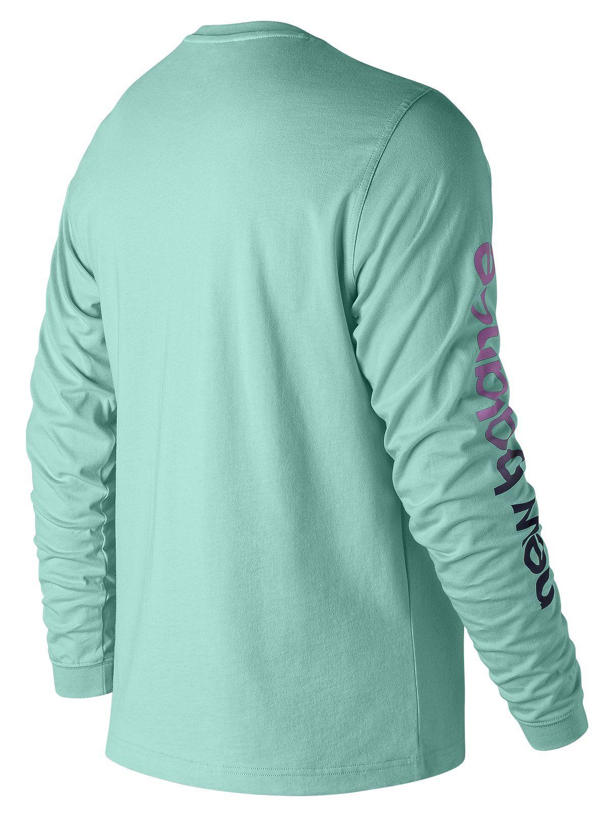 7c4eeaba5df6 New Balance - Green Essentials 90s Long Sleeve Tee for Men - Lyst. View  fullscreen