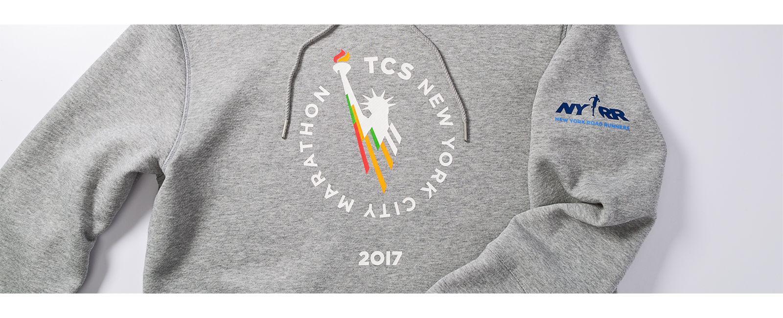 354cad6f3b0ee New Balance Nyc Marathon Essentials Pullover Hoodie in Gray for Men ...