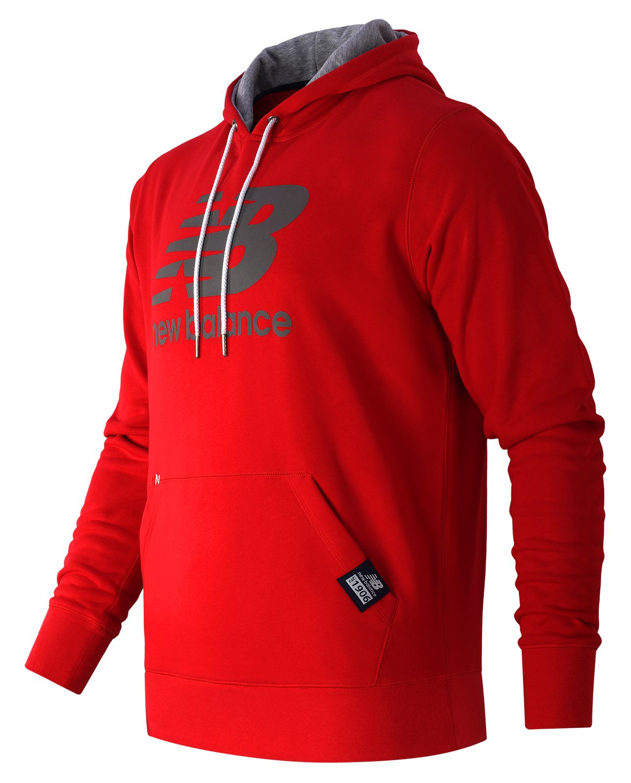 new balance pullover hoodie in red for men lyst. Black Bedroom Furniture Sets. Home Design Ideas