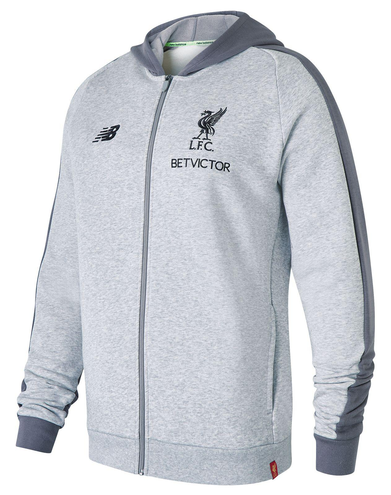Lyst - New Balance Liverpool Fc Elite Leisure Hoodie in Gray for Men c0b1c0d86