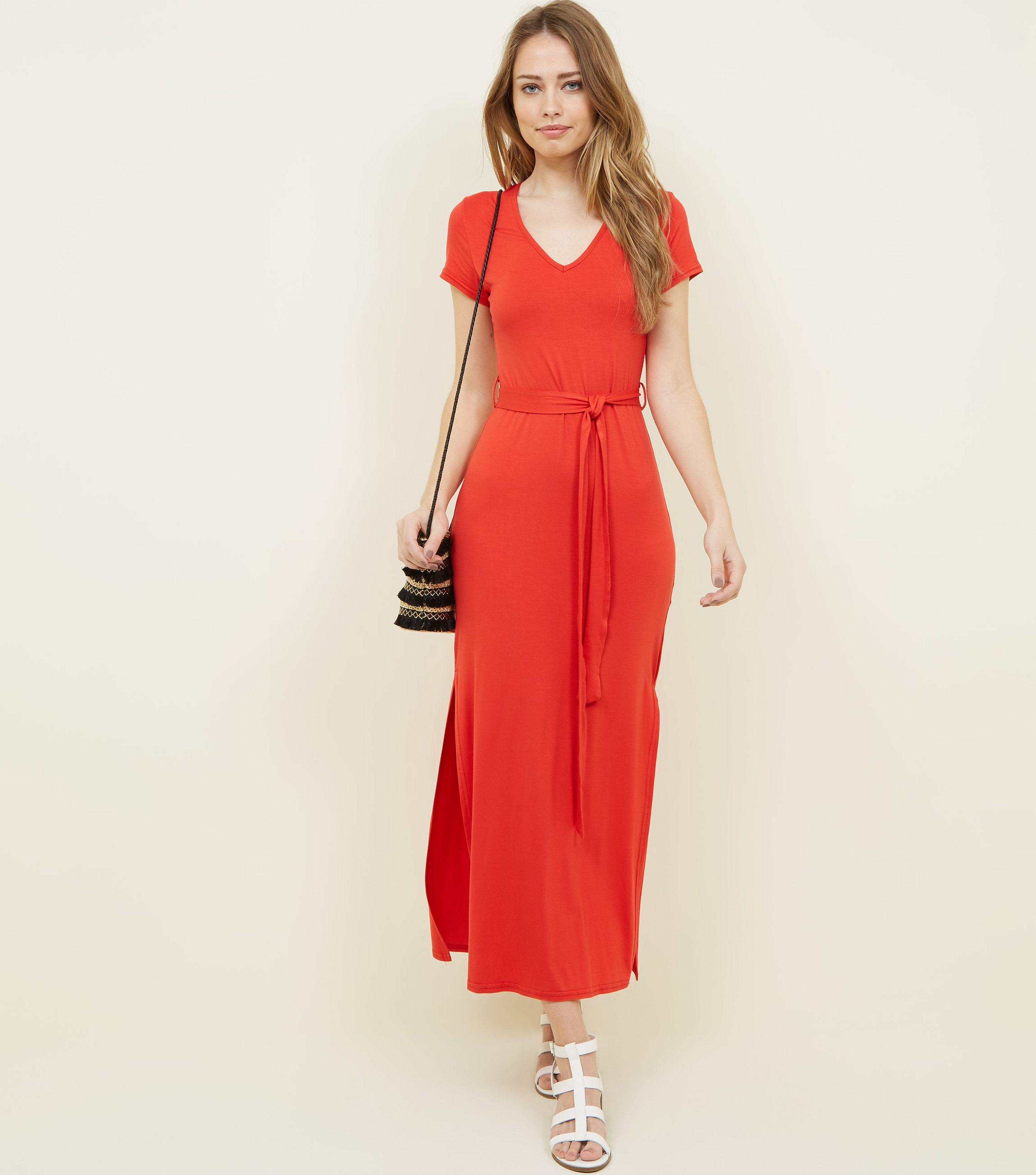 81b41279fc14 Gallery. Previously sold at  New Look · Women s Jersey Dresses Women s  Ruffle Maxi ...
