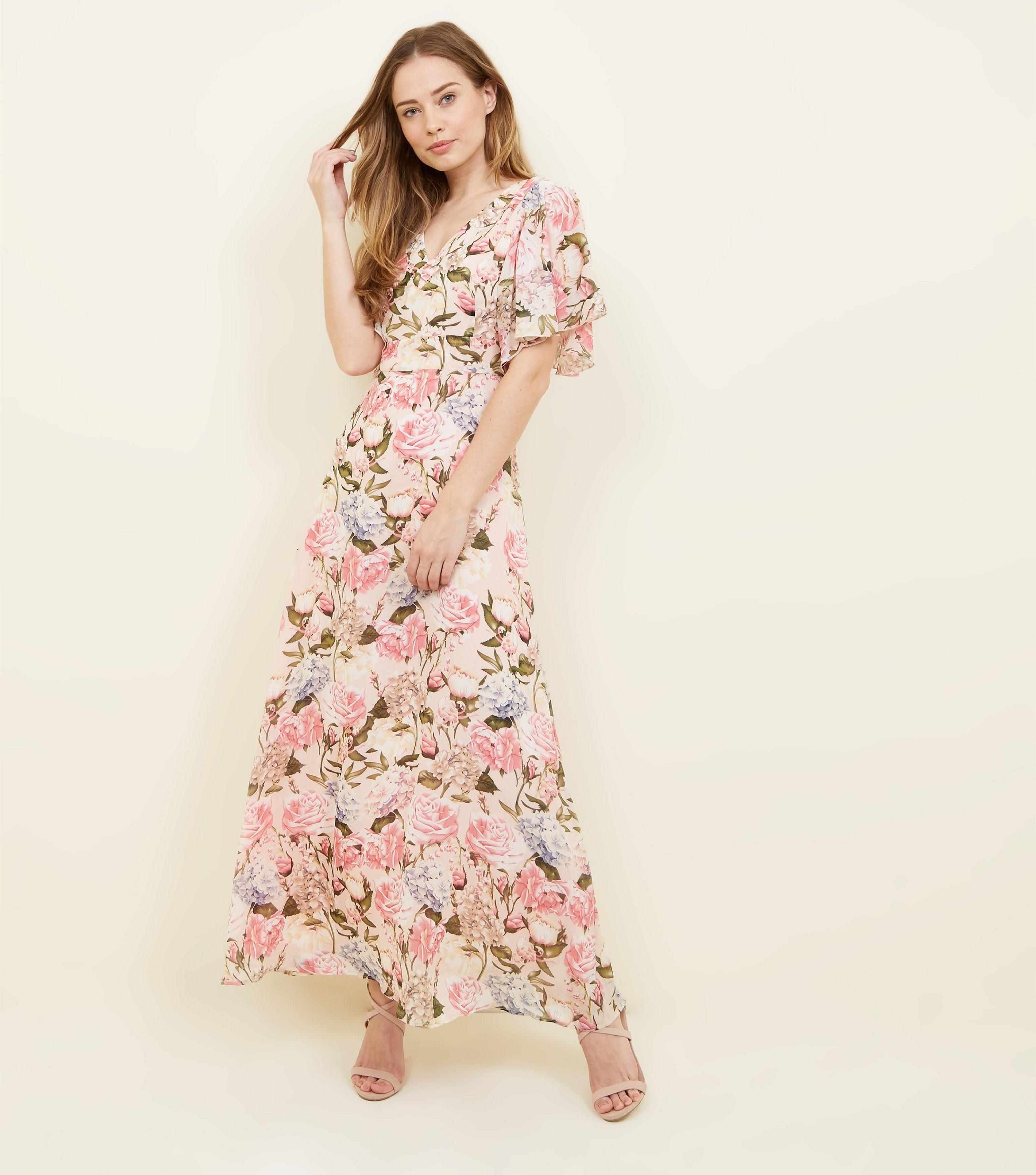 29dae45de146 Floral Maxi Dress Pink - raveitsafe