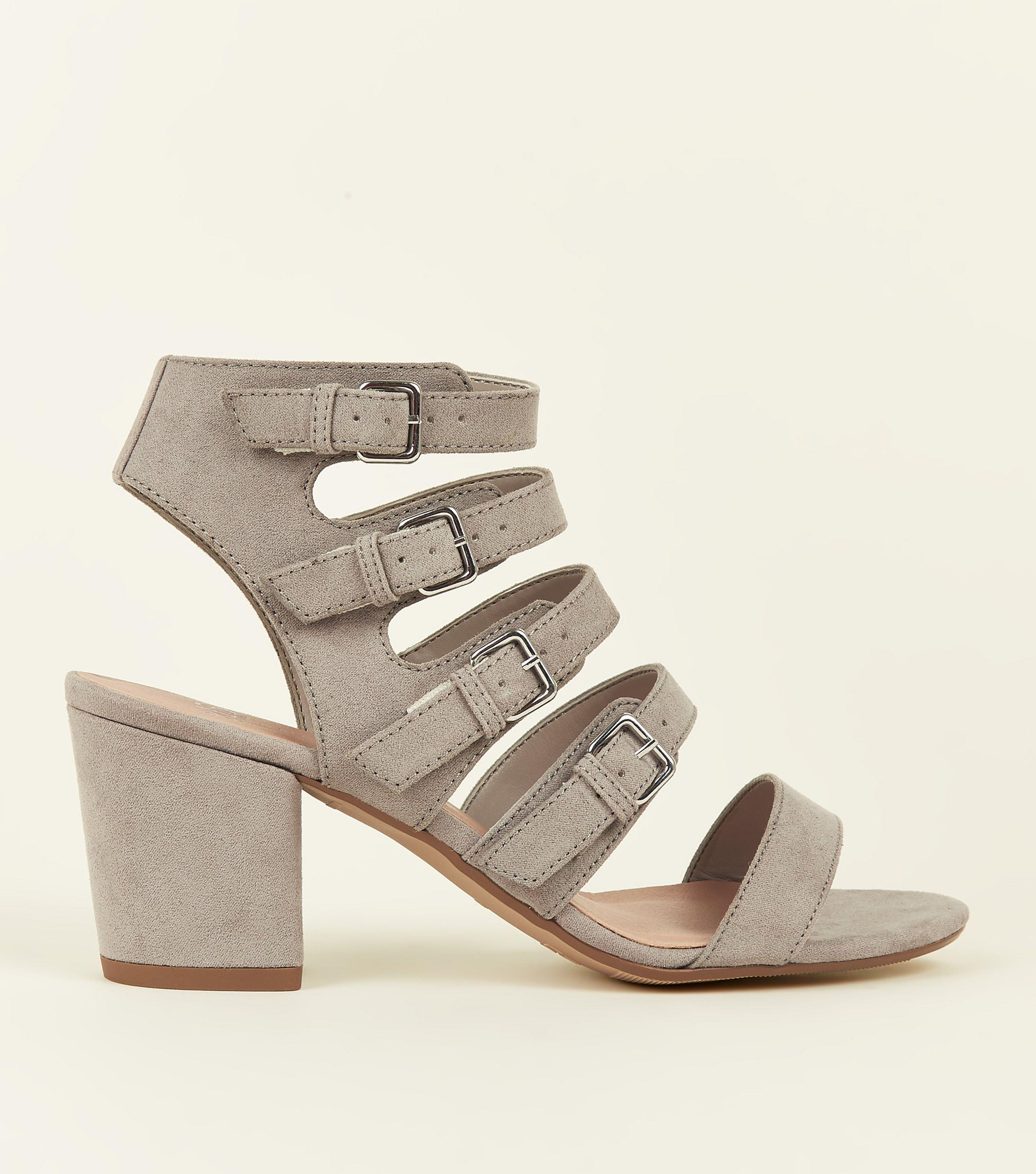 967a3b216ea New Look Girls Grey Suedette Buckle Strap Gladiator Sandals in Gray ...