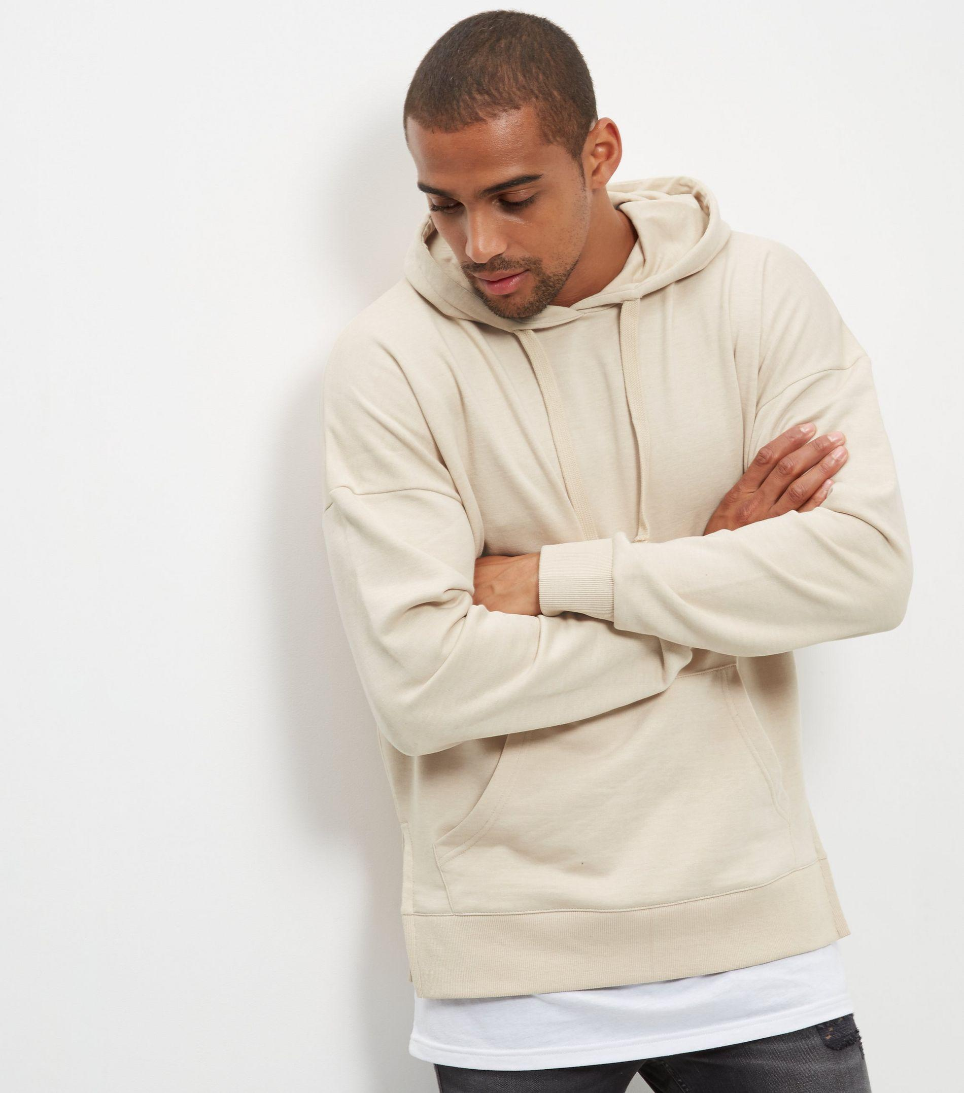New Look Stone Layered Hoodie in Natural for Men - Lyst 457a77b89f