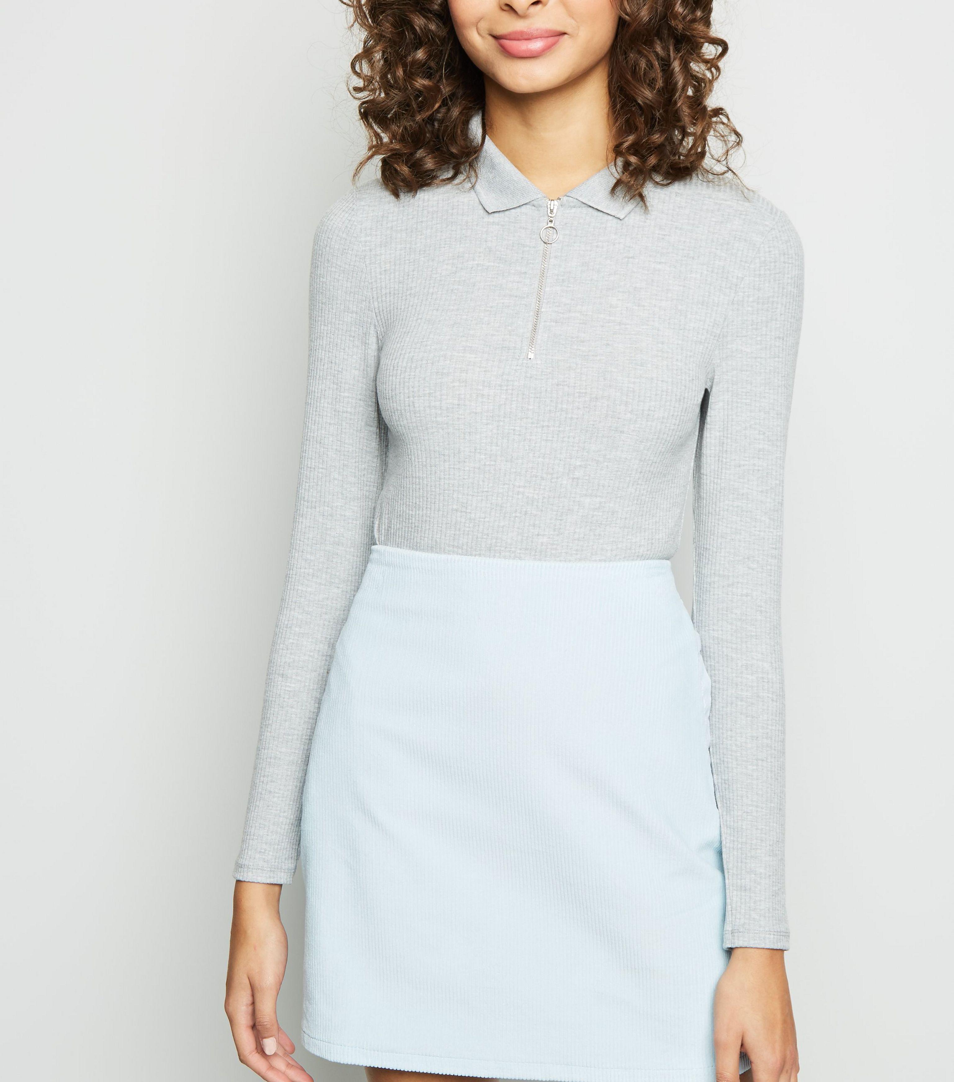 abe80cd0ce New Look Pale Blue Corduroy Pocket Side Mini Skirt in Blue - Lyst