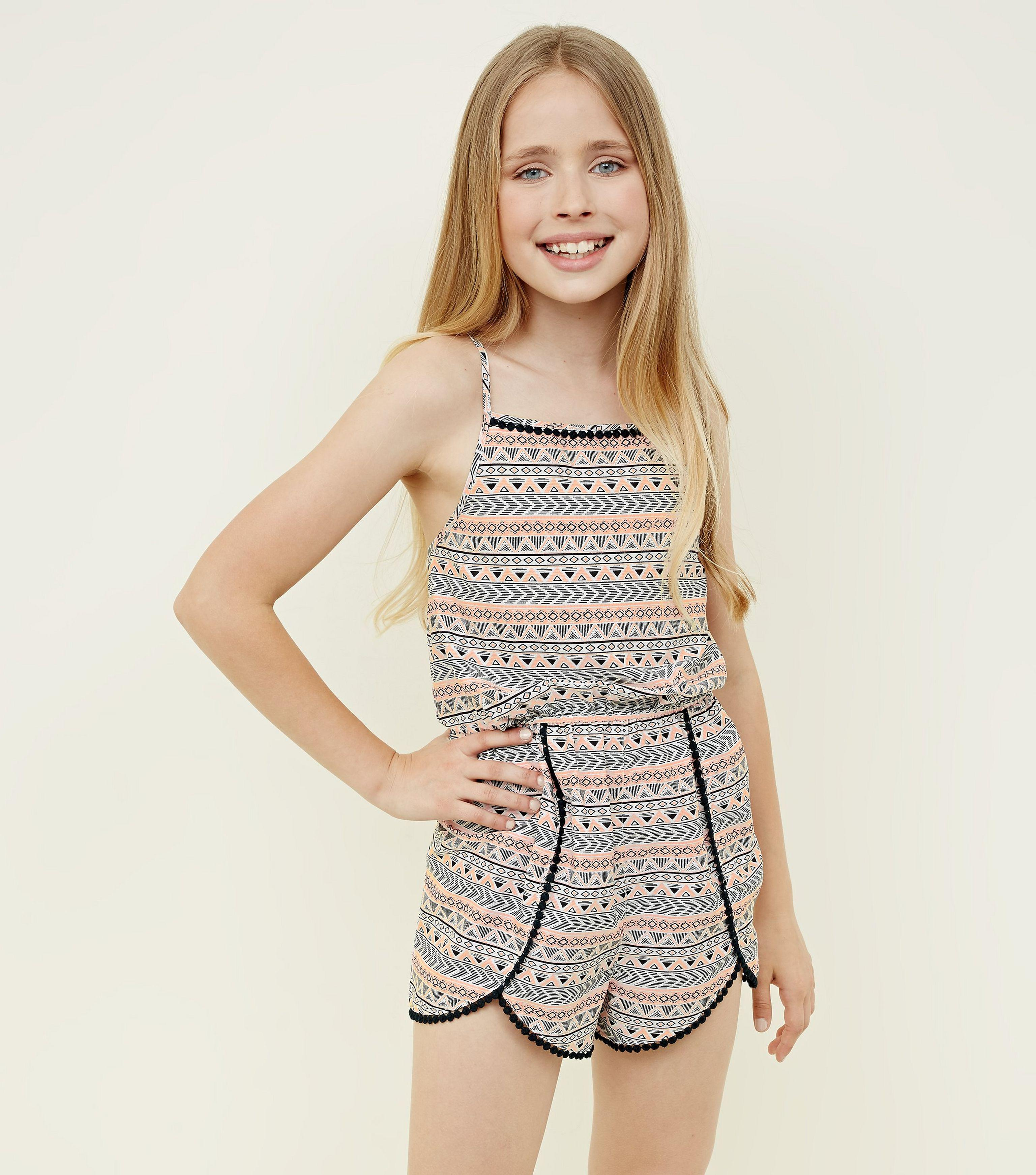 73082cc406a New Look Girls Black Aztec Print Beach Playsuit in Black - Lyst