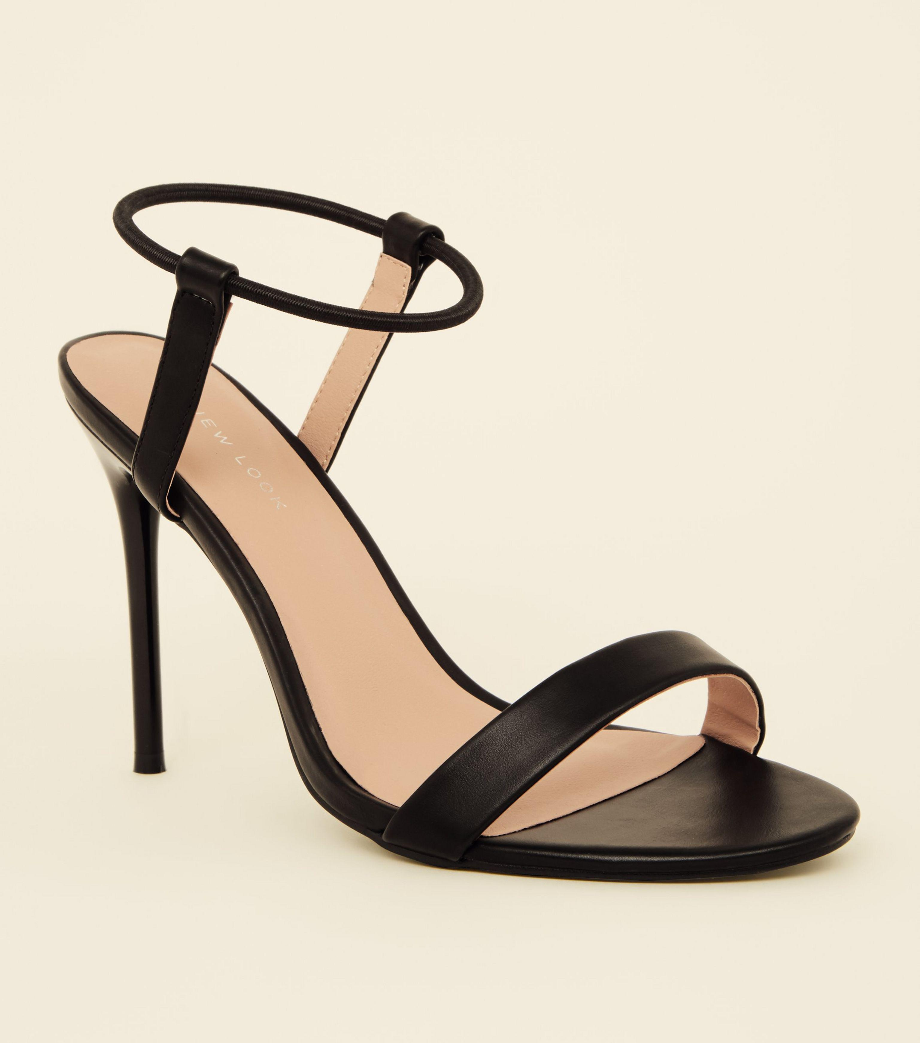 ca2a5c43cc2ac5 New Look Black Elastic Ankle Band Stiletto Heels in Black - Lyst