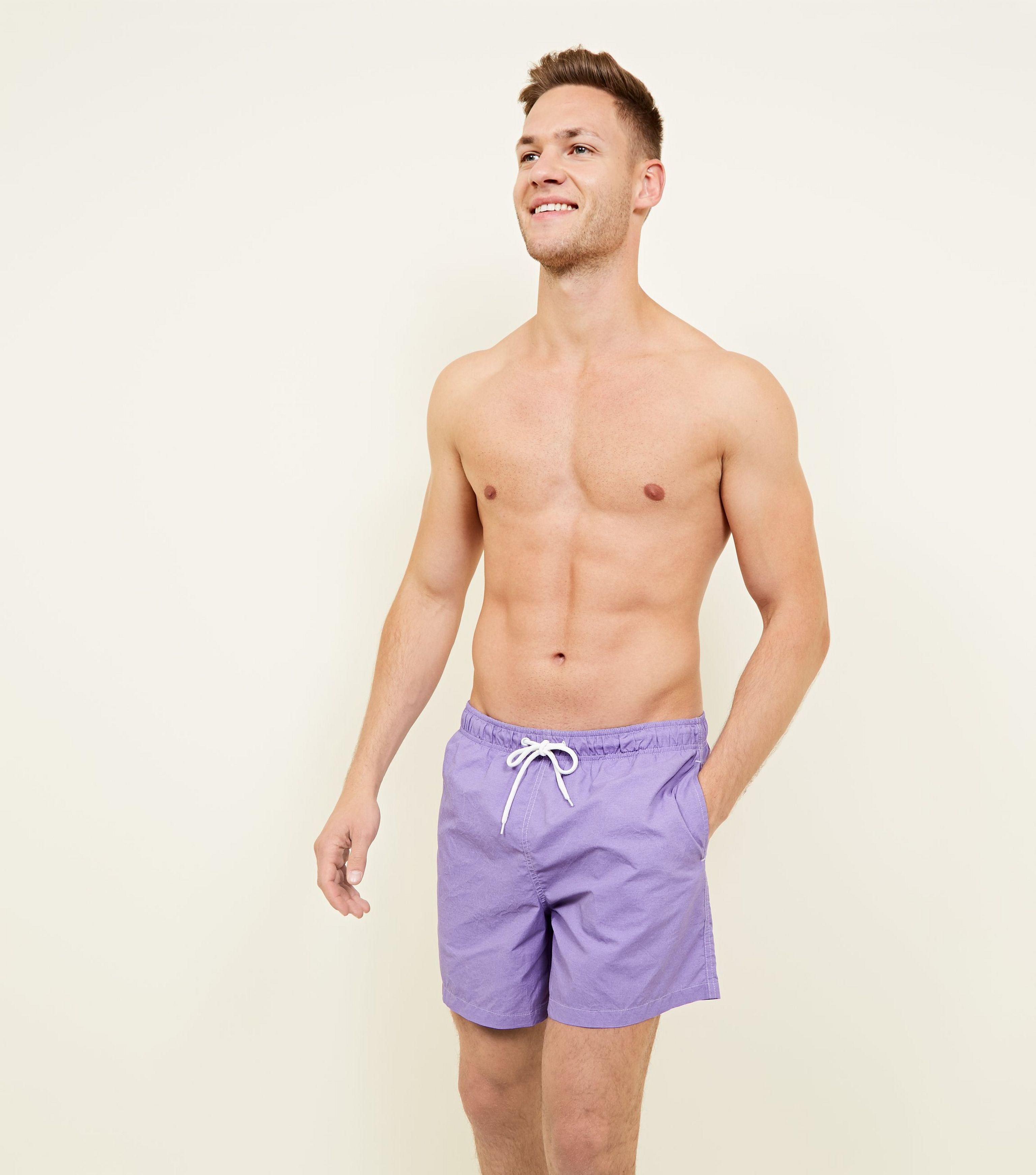 8909a5daf9 New Look Lilac Acid Wash Swim Shorts in Purple for Men - Lyst
