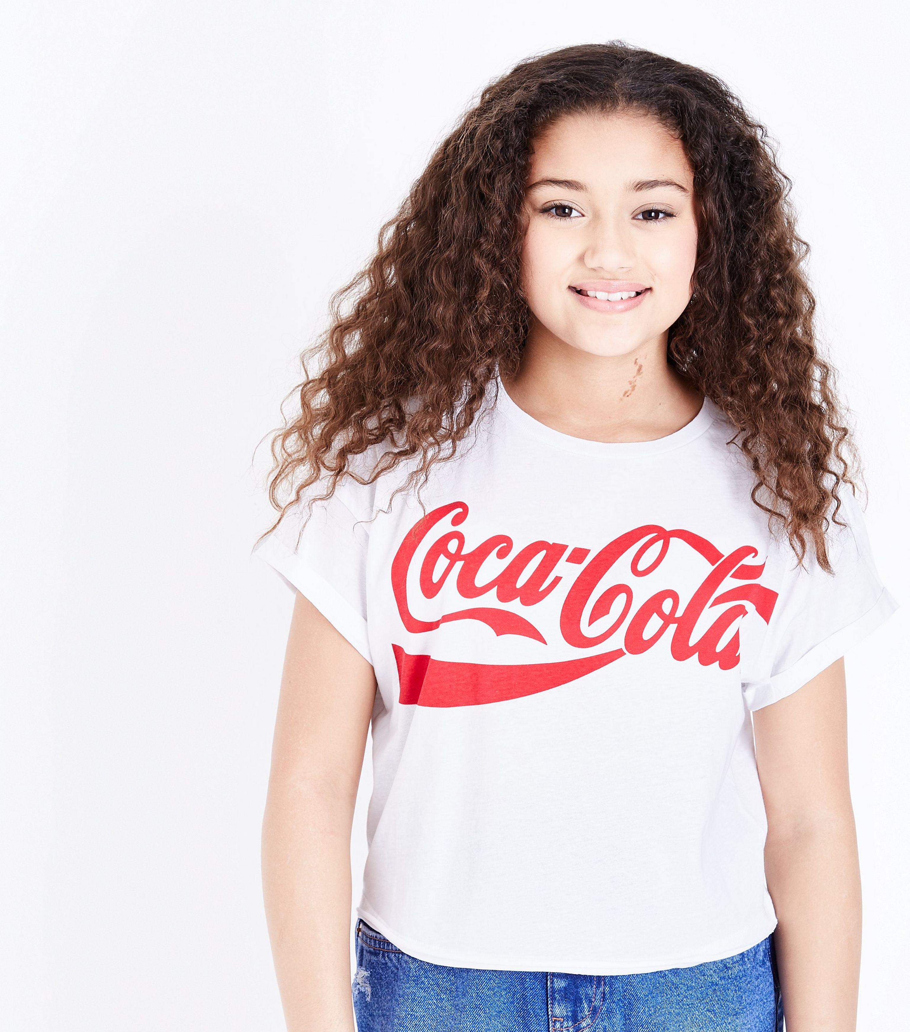 f6433791173 New Look Girls White Coca Cola T-shirt in White - Lyst