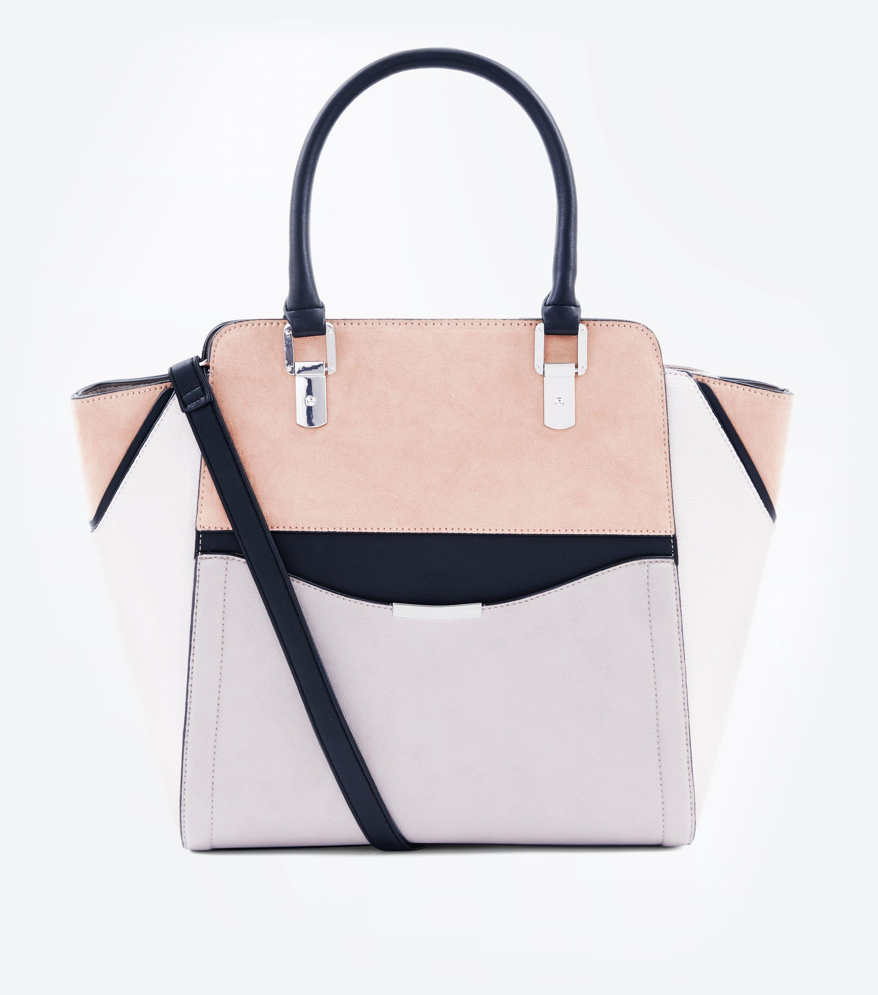 New Look Mink Colour Block Structured Tote Bag - Lyst 471fd77d04223