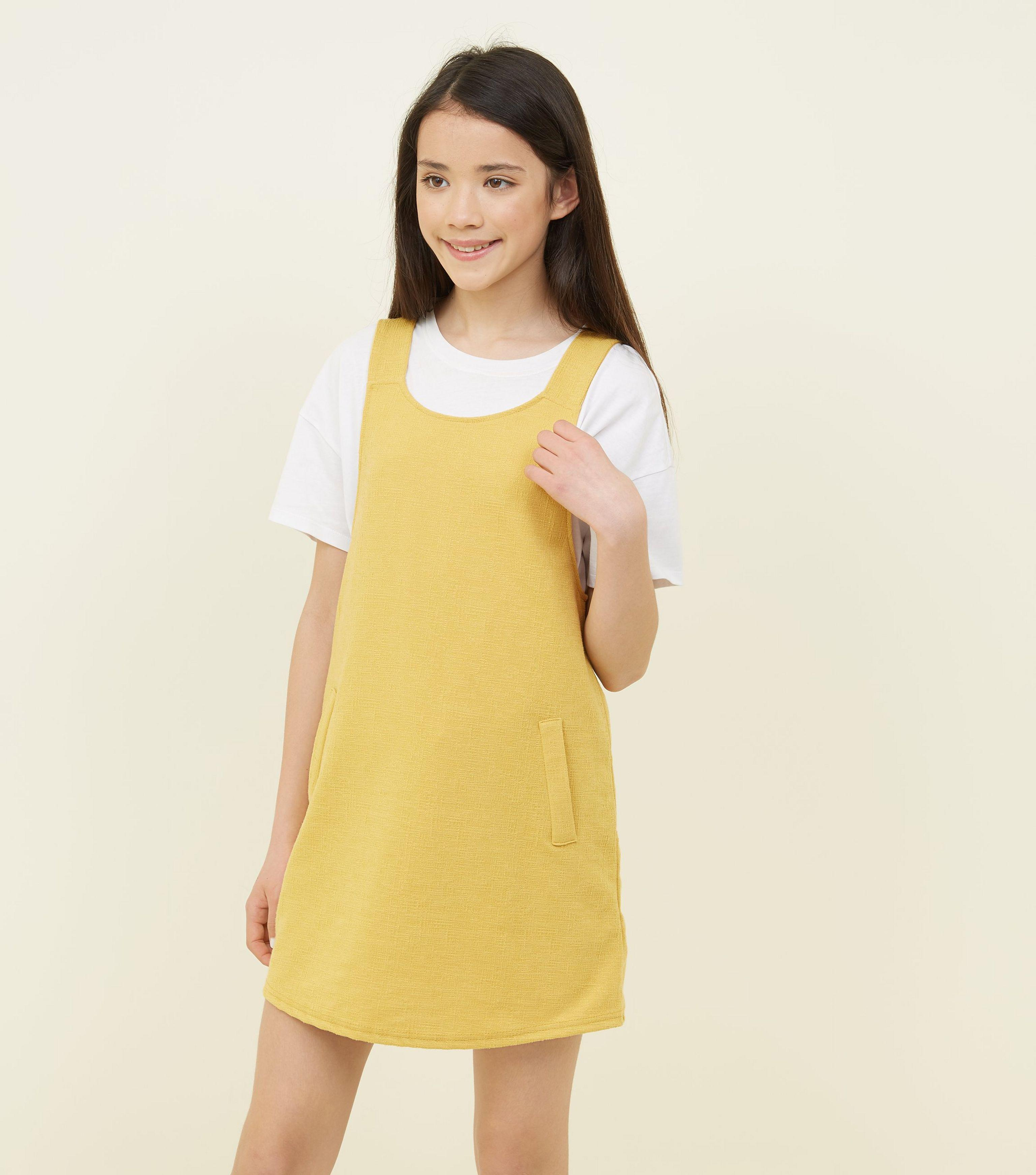 9d5916e90 New Look Girls Mustard Pinafore Dress in Yellow - Lyst
