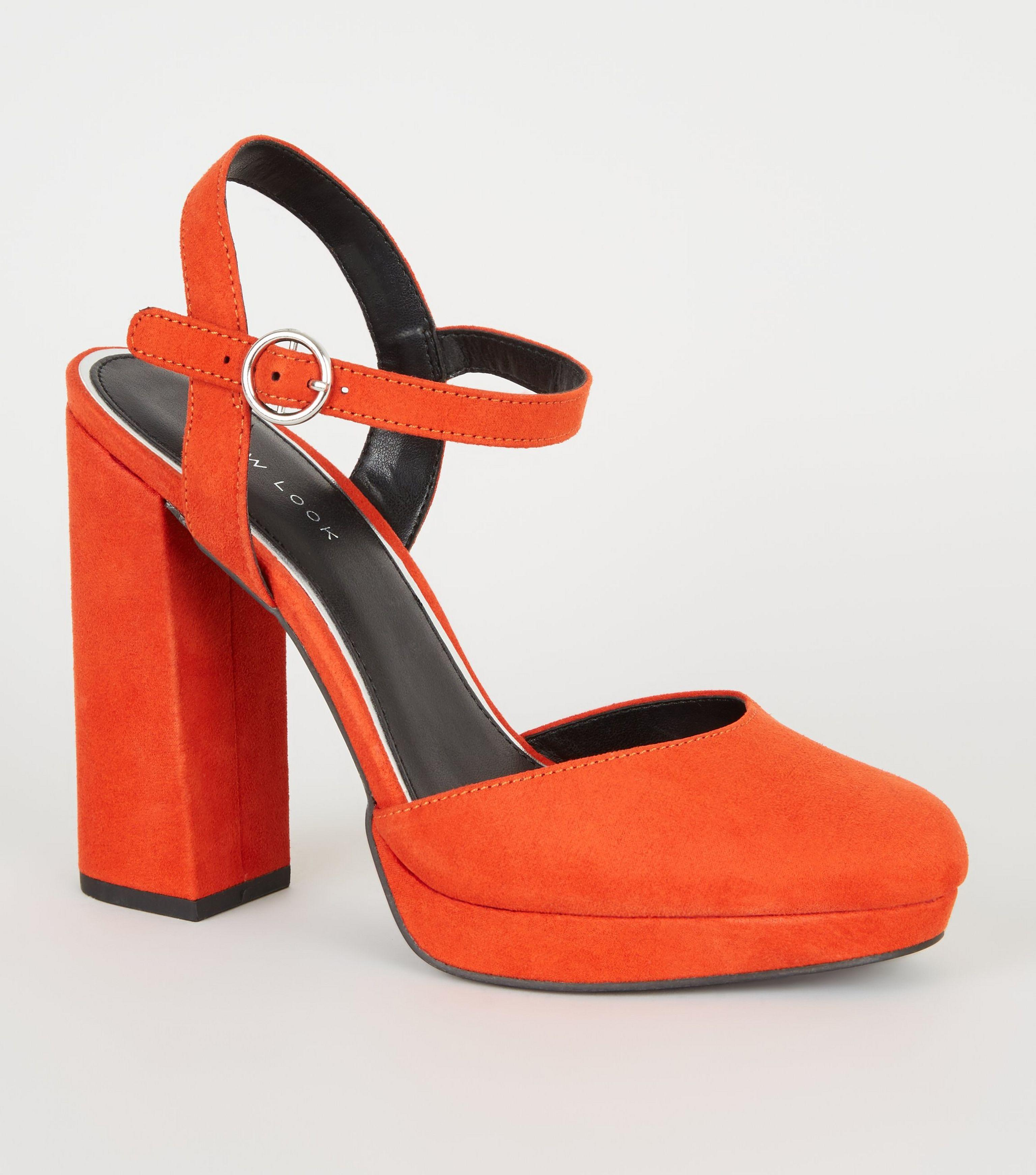 f409f5db55b New Look Orange Suedette Two Part Platform Courts in Orange - Lyst