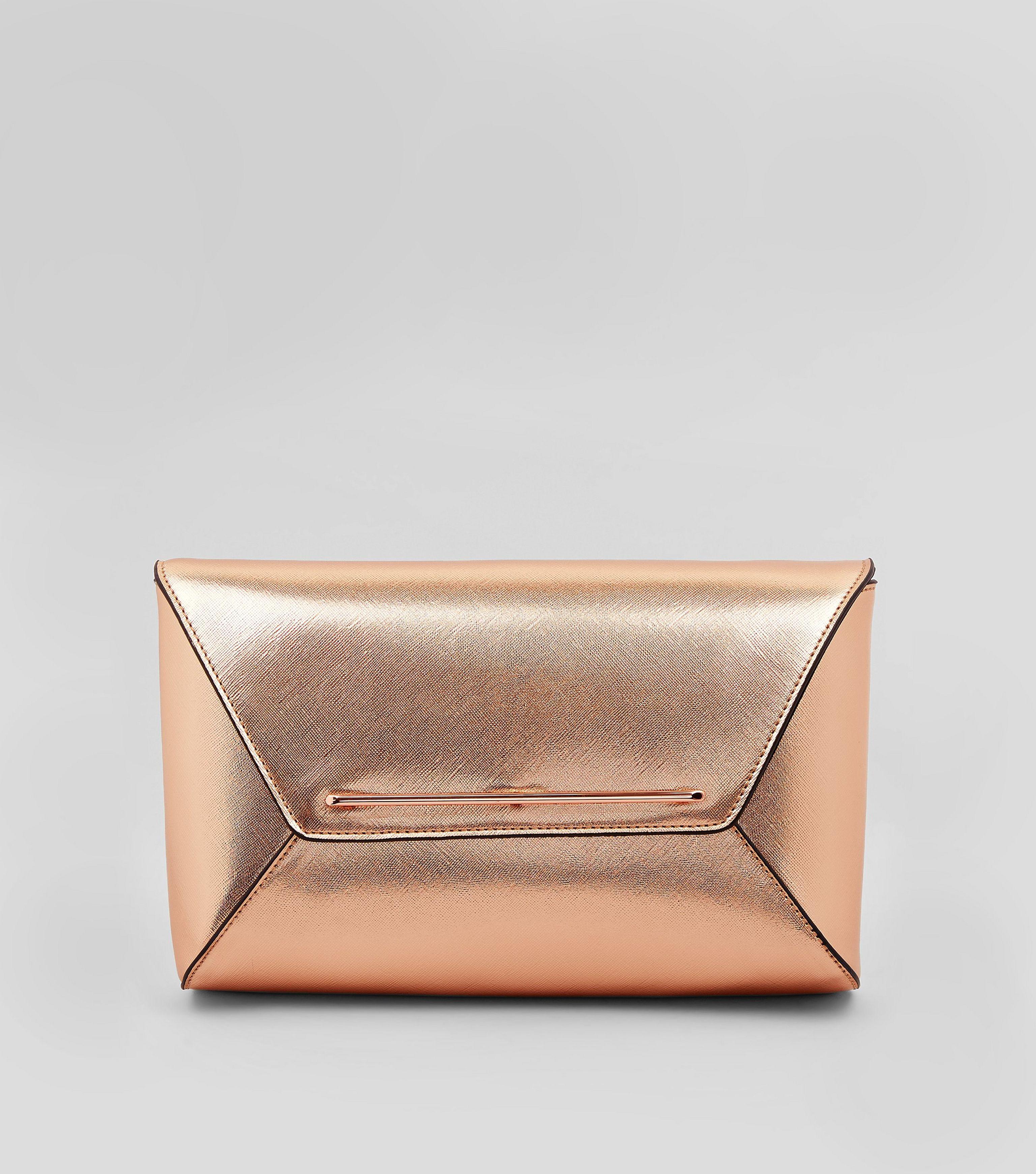 5f59d171776cb New look rose gold metallic envelope clutch bag in metallic lyst jpg  3073x3484 Gold envelope clutch
