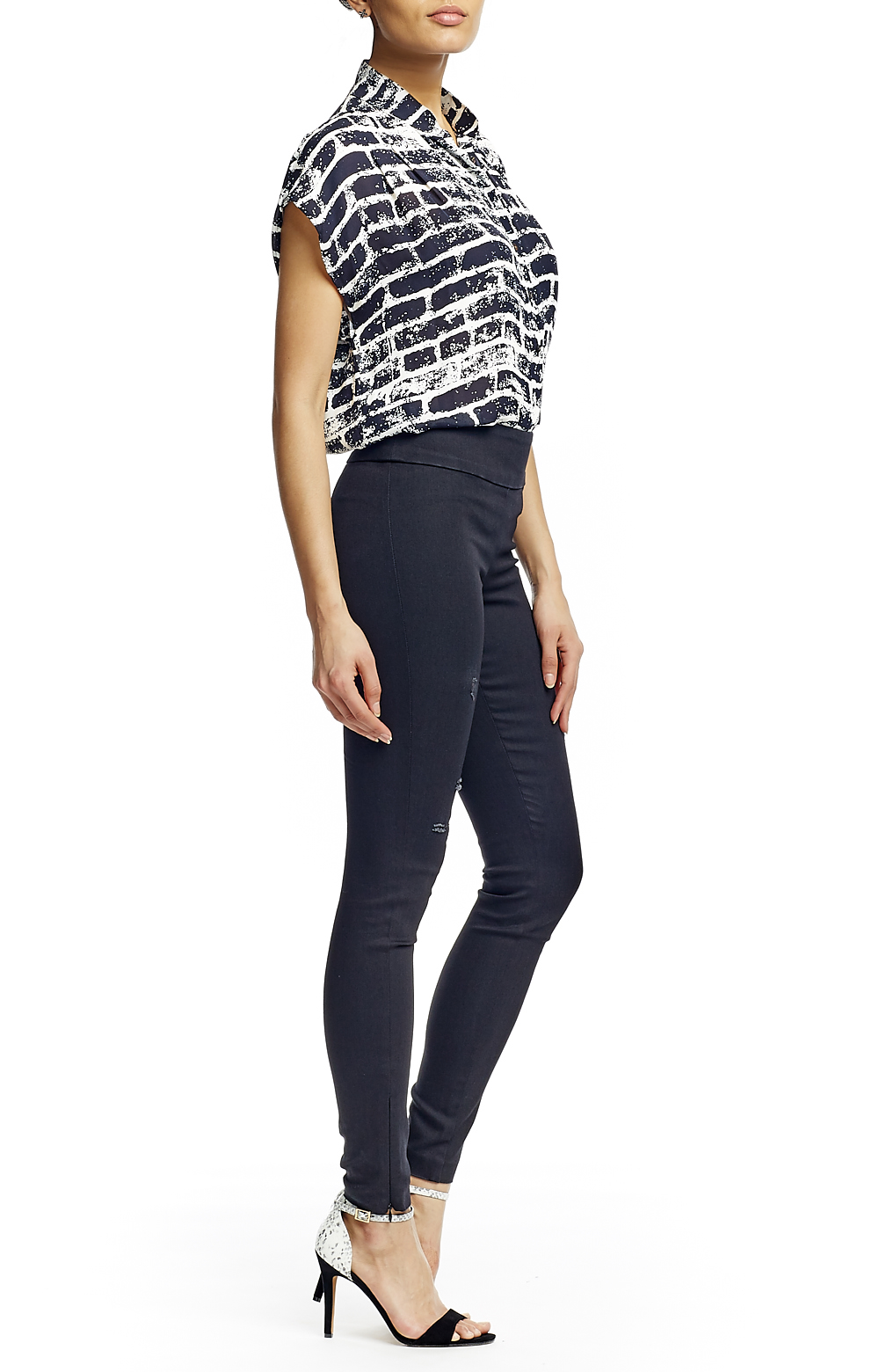 Nicole miller Nina Slim Pants in Black