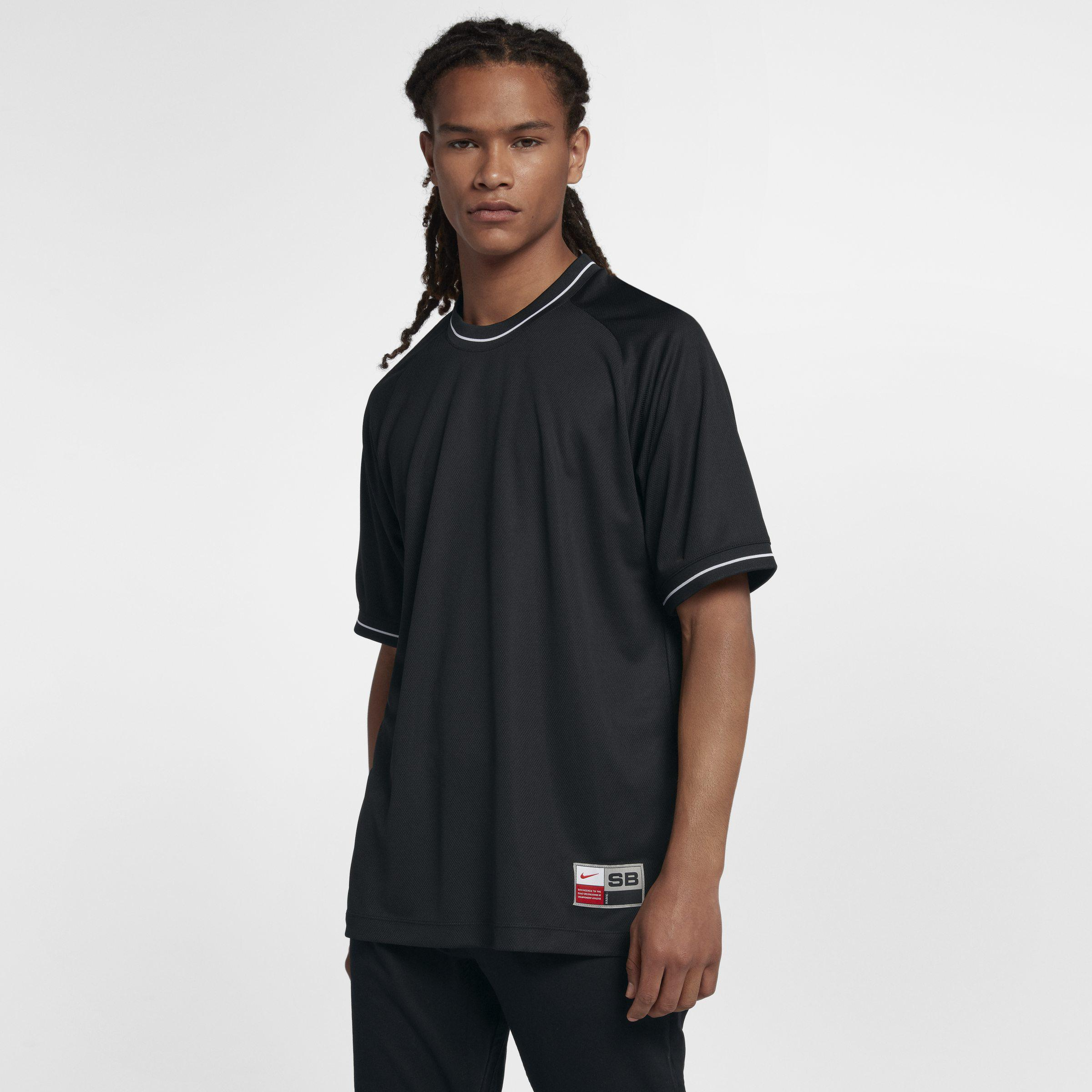5e76c3c17681 Nike Sb Dri-fit Short-sleeve Top in Black for Men - Lyst