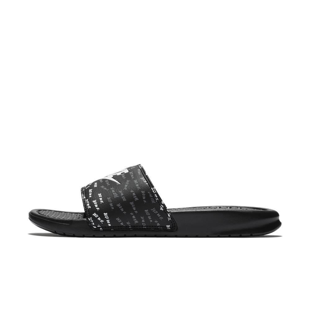 ba55fb9c1c647f Lyst - Nike Benassi Jdi Print Women s Slide Sandal in Black
