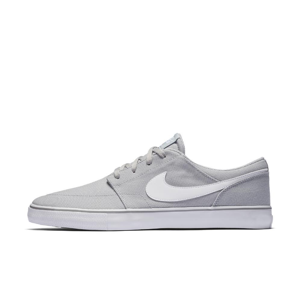 new style 76c88 ba30b Nike. White Sb Solarsoft Portmore Ii Canvas Men s Skateboarding Shoe