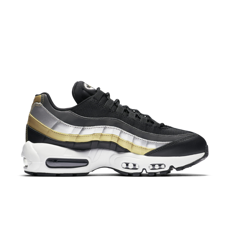 reputable site 0f28c b6745 Nike Air Max 95 Lux Metallic Shoe in Black - Lyst