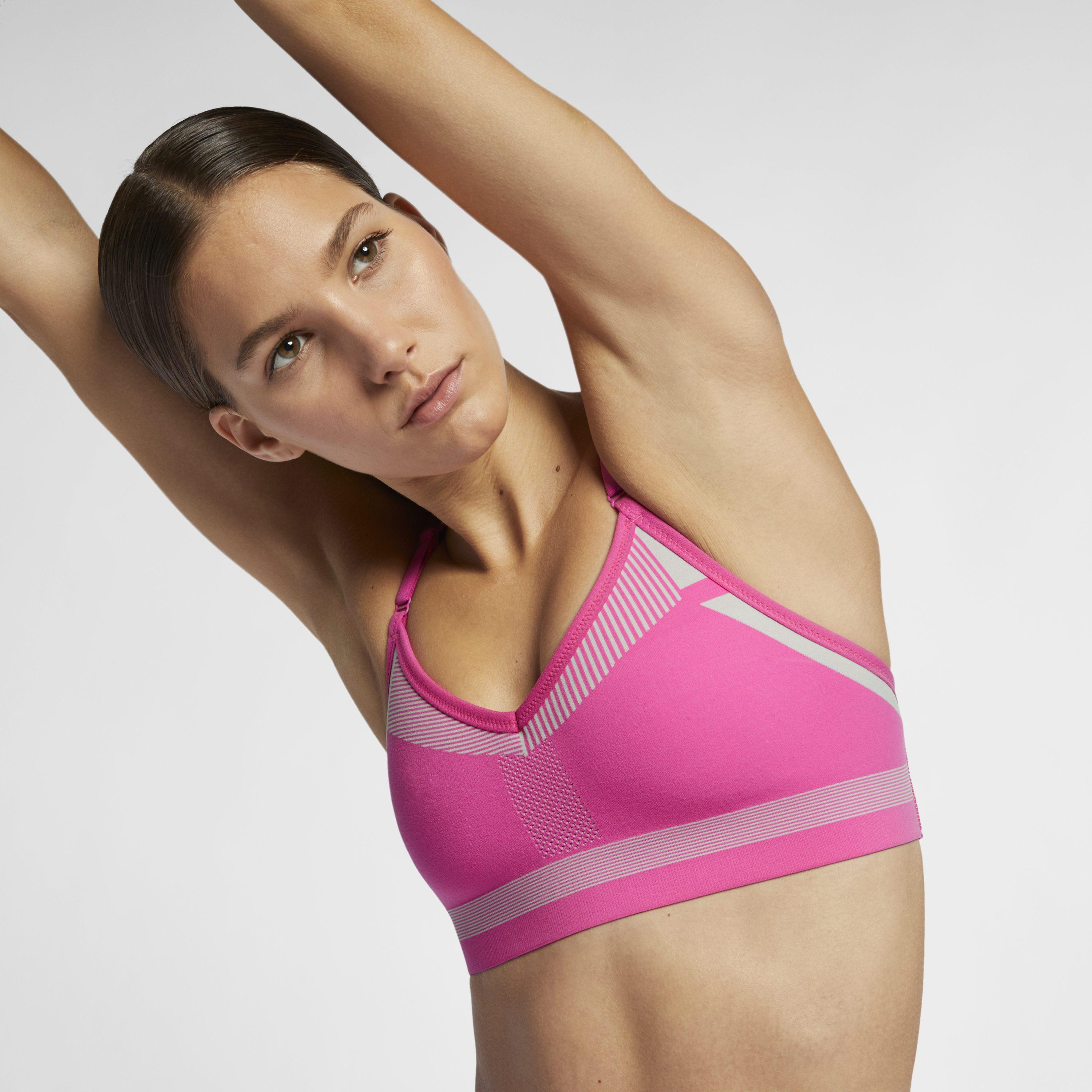e5343e0d432 Nike Flyknit Indy Medium-support Sports Bra in Pink - Save 2% - Lyst