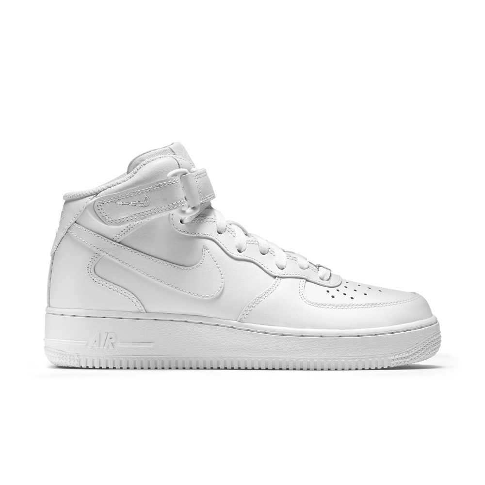 nike air force 1 mid 07 leather womens shoe in white lyst